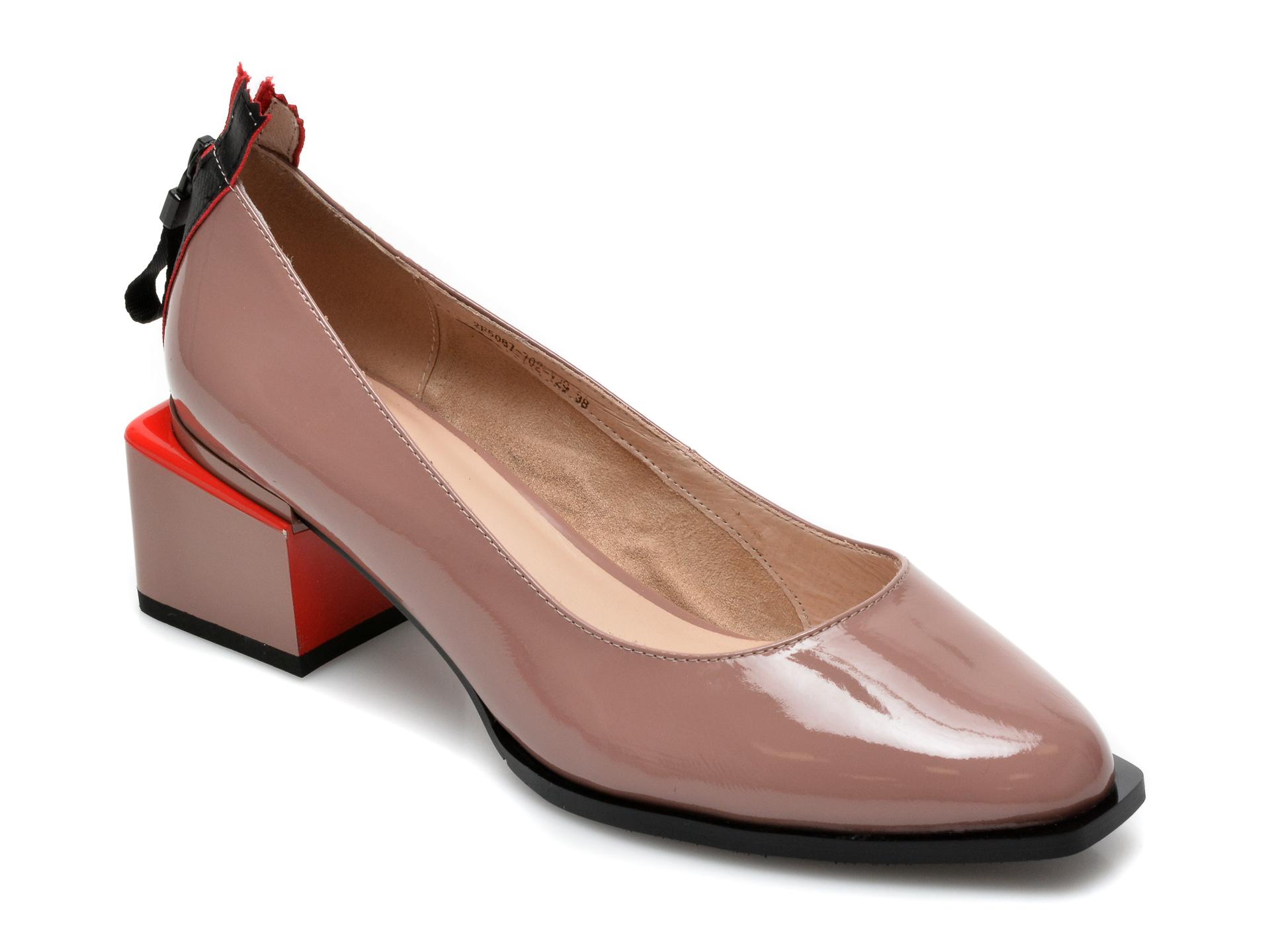 Pantofi EPICA nude, 2F50877, din piele naturala lacuita imagine otter.ro 2021