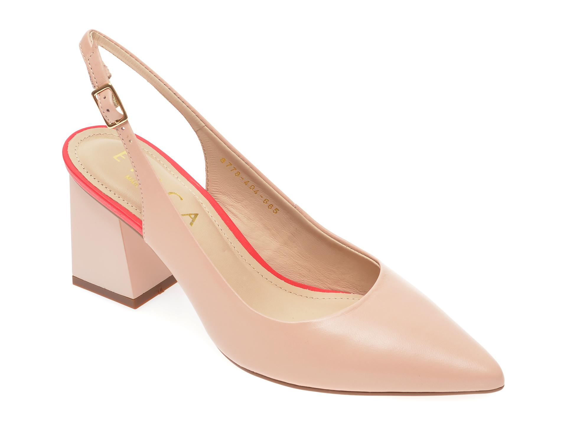 Pantofi EPICA nude, 8778404, din piele naturala New