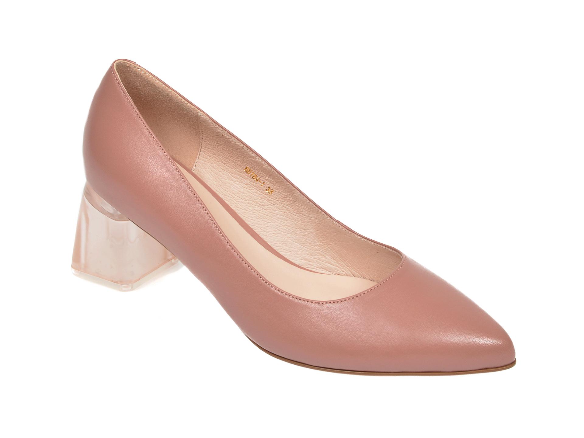 Pantofi EPICA nude, BH184, din piele naturala imagine