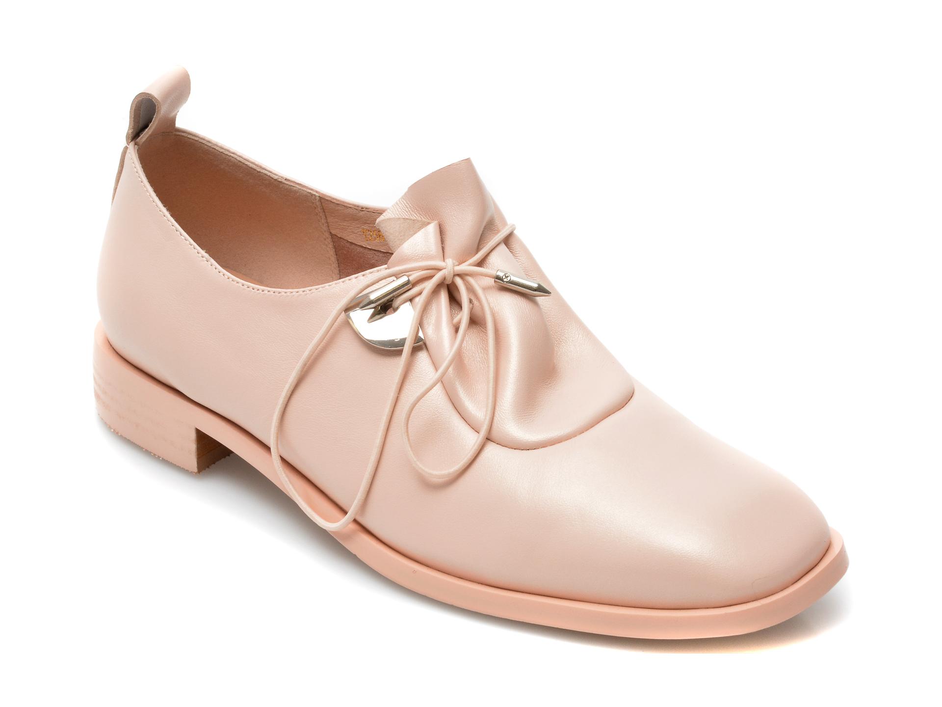 Pantofi EPICA roz, Y2561Q1, din piele naturala imagine otter.ro 2021