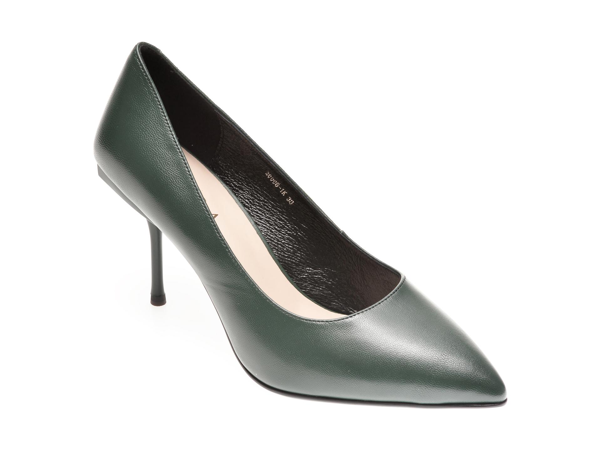 Pantofi EPICA verzi, 20008, din piele naturala imagine otter.ro