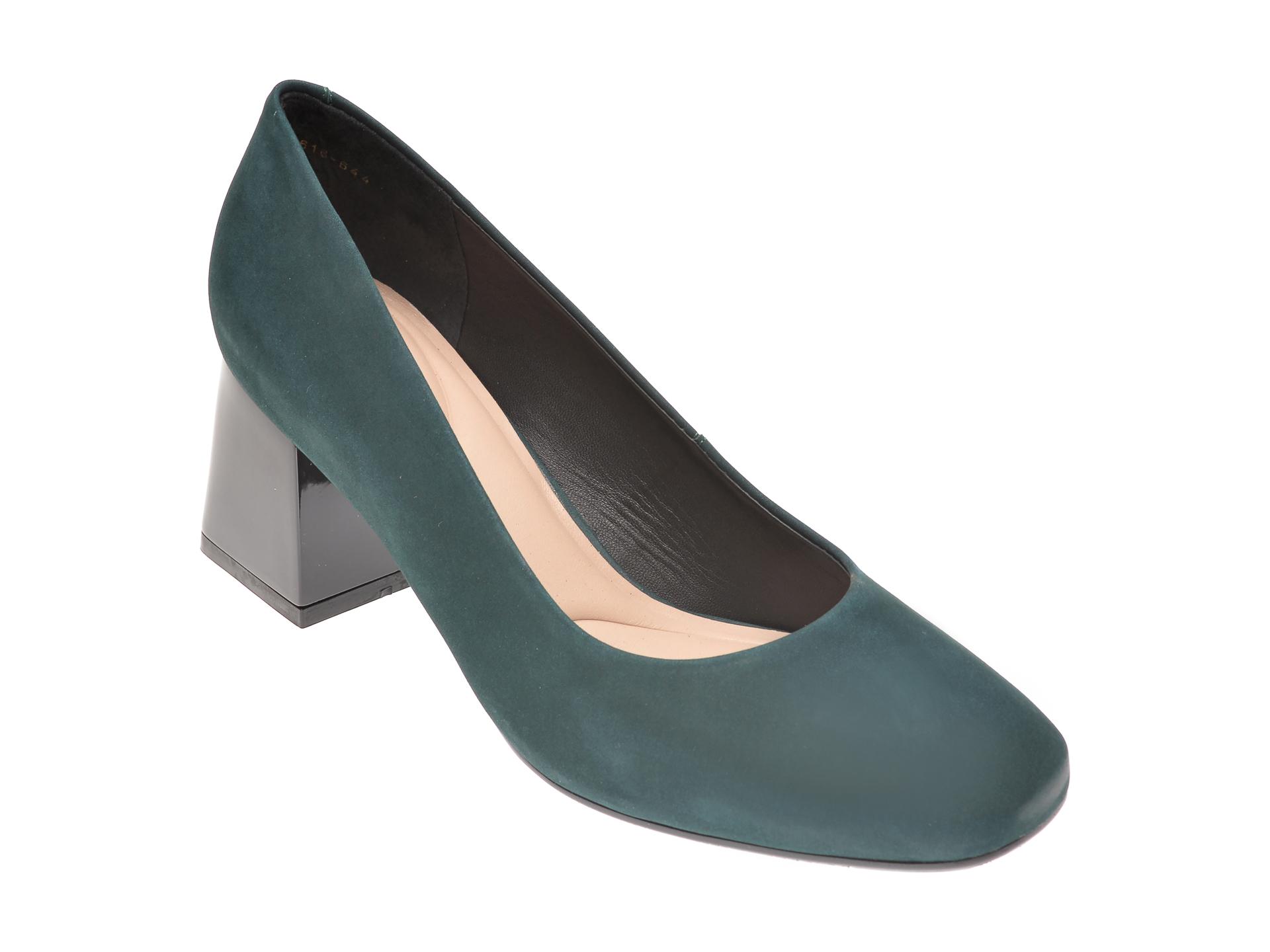 Pantofi EPICA verzi, 2129616, din nabuc