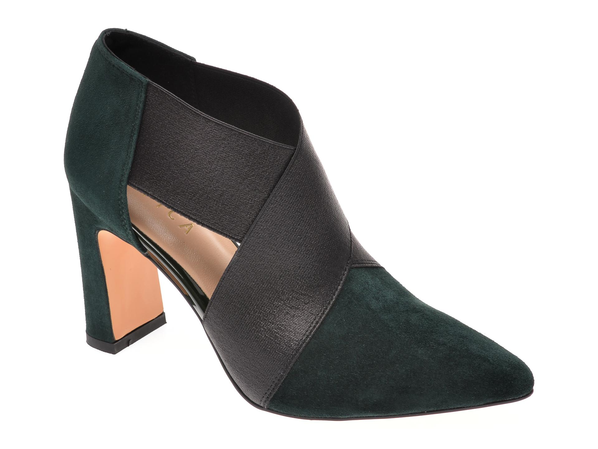 Pantofi EPICA verzi, 2631809, din piele intoarsa
