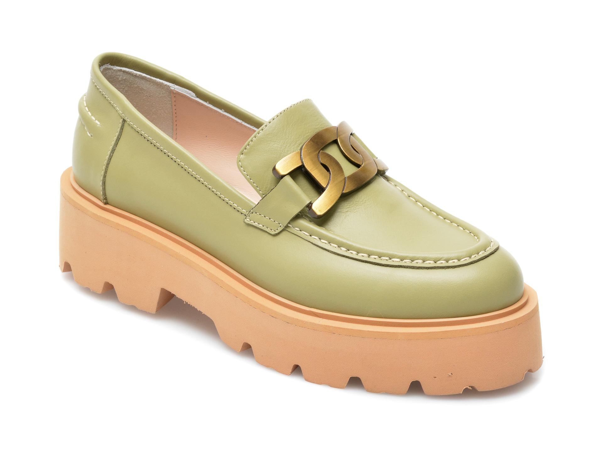 Pantofi EPICA verzi, 4380681, din piele naturala imagine otter.ro 2021