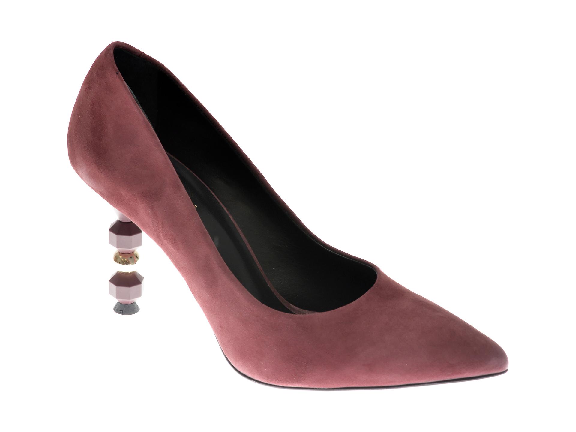 Pantofi EPICA visinii, 4217, din piele intoarsa imagine otter.ro
