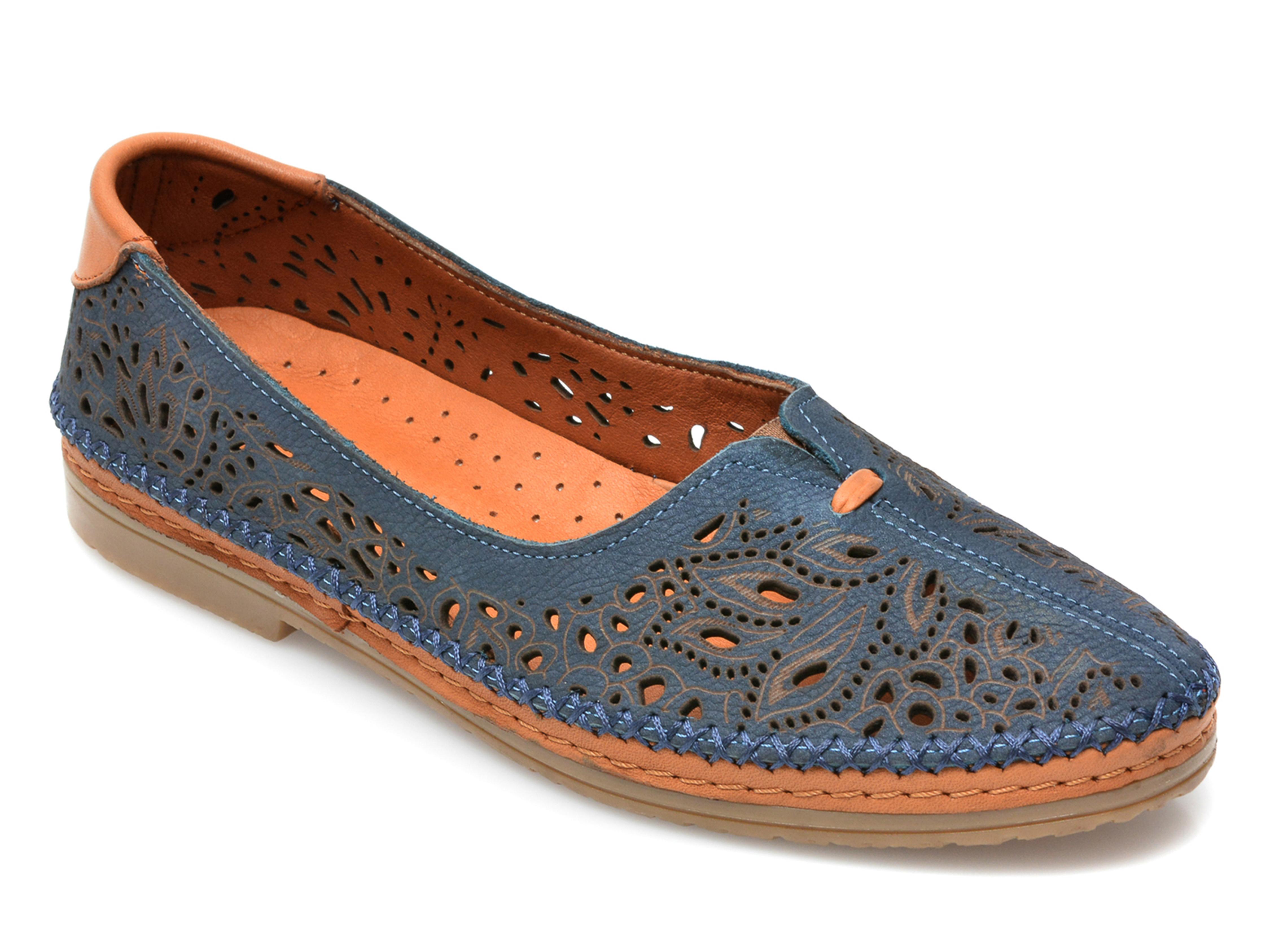 Pantofi ETERY albastri, 222211, din nabuc imagine otter.ro