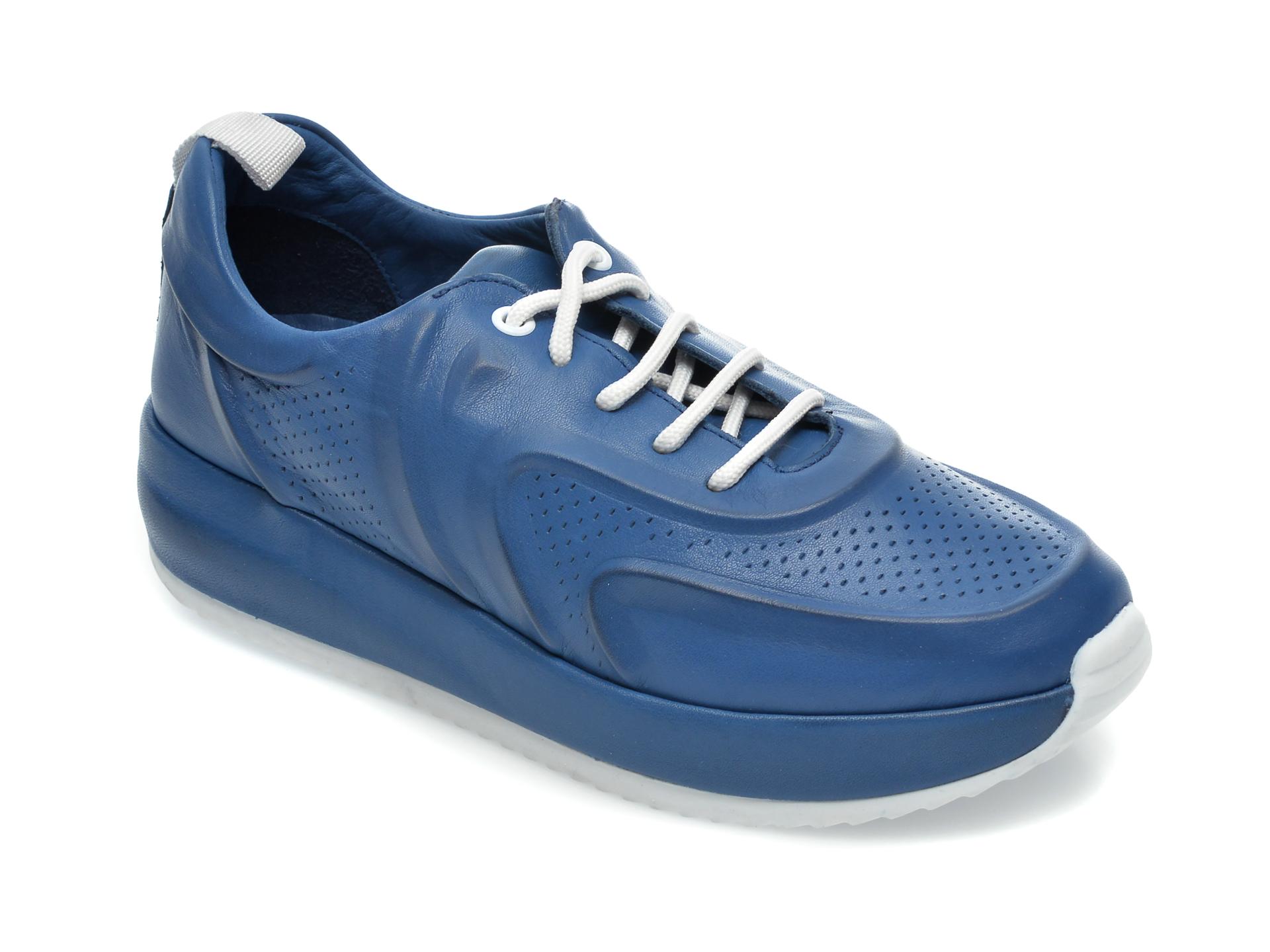 Pantofi Flavia Passini Albastri, 109078, Din Piele Naturala
