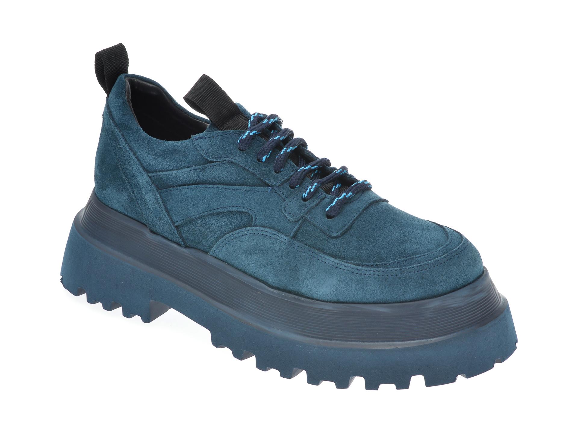 Pantofi FLAVIA PASSINI albastri, 11902, din piele intoarsa imagine