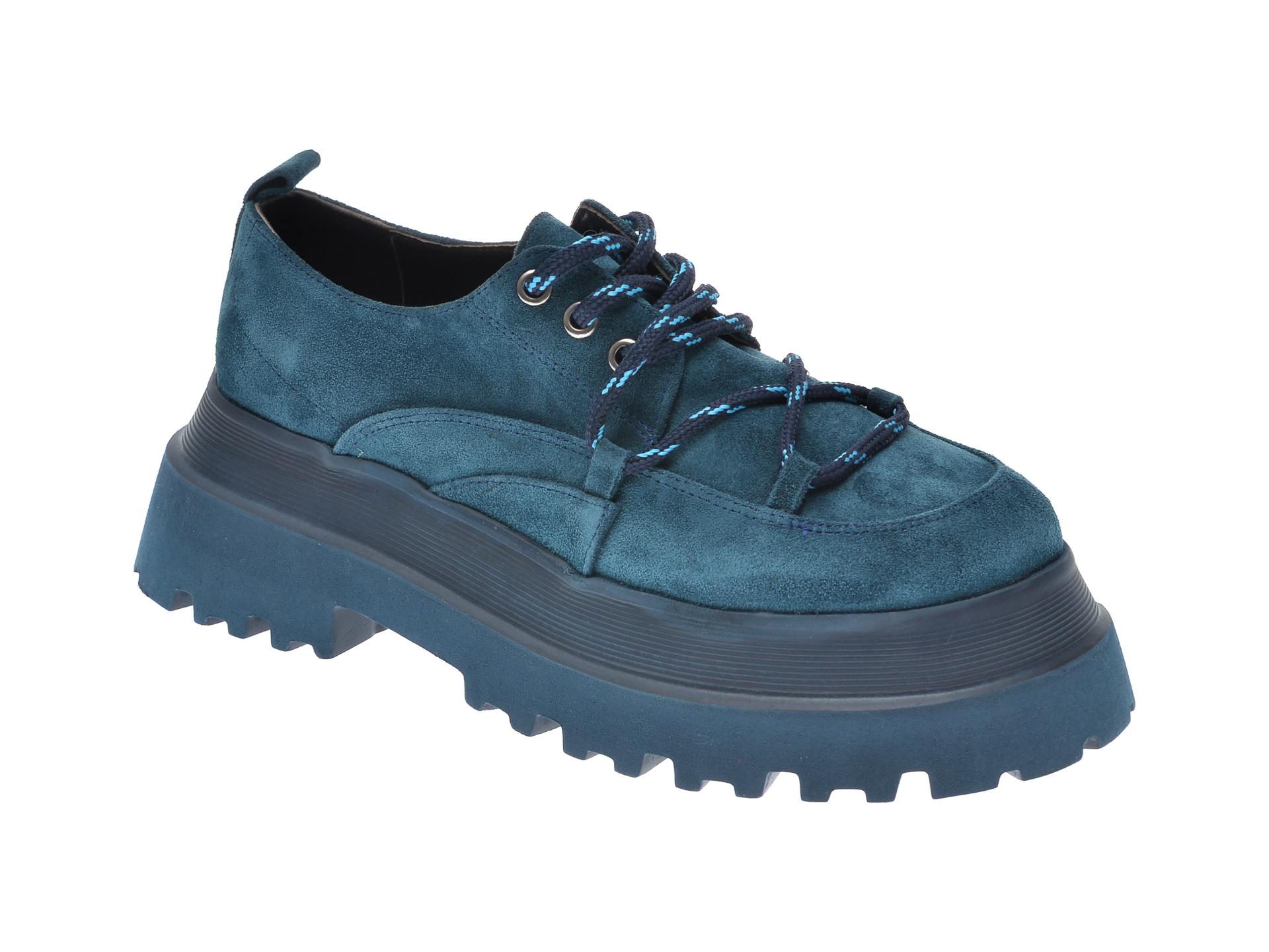 Pantofi FLAVIA PASSINI albastri, 11903, din piele intoarsa imagine