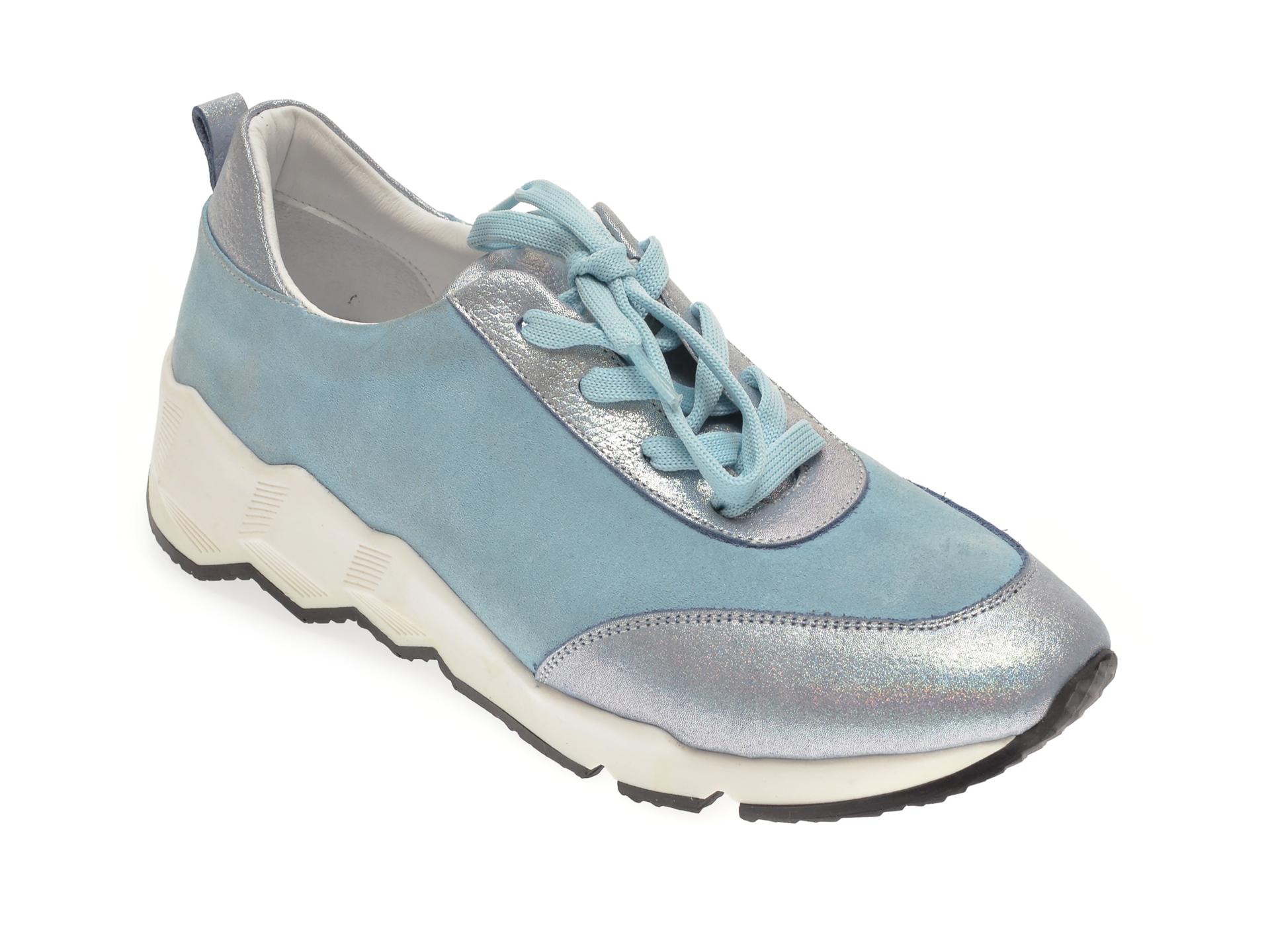 Pantofi FLAVIA PASSINI albastri, 135P63, din piele intoarsa New