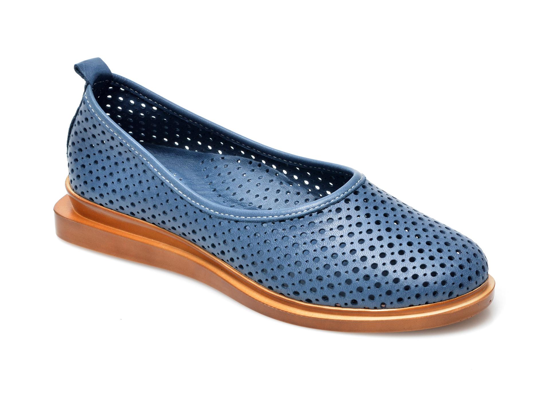 Pantofi FLAVIA PASSINI albastri, 164374, din piele naturala imagine otter.ro 2021