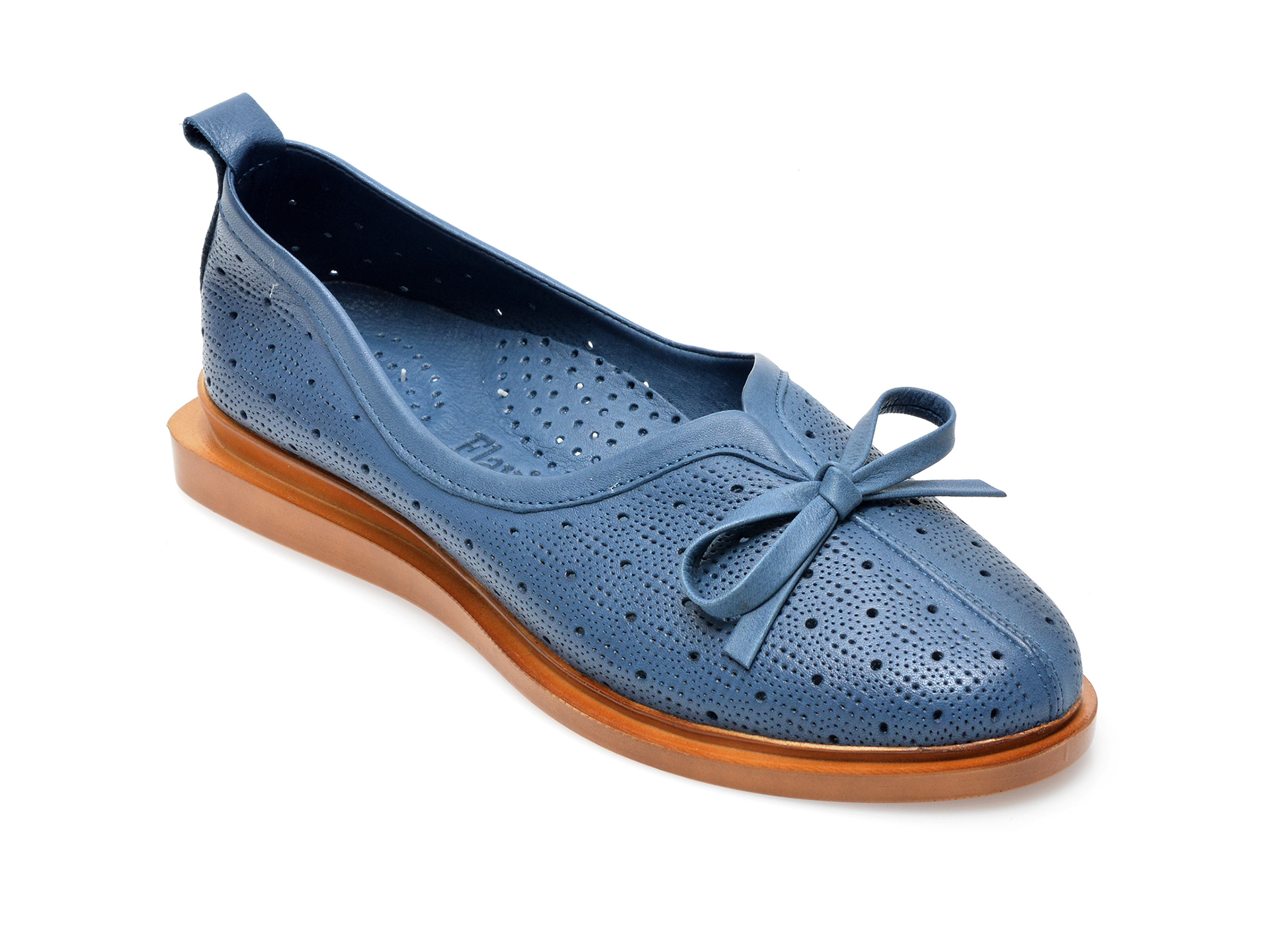 Pantofi FLAVIA PASSINI albastri, 164380, din piele naturala imagine otter.ro 2021