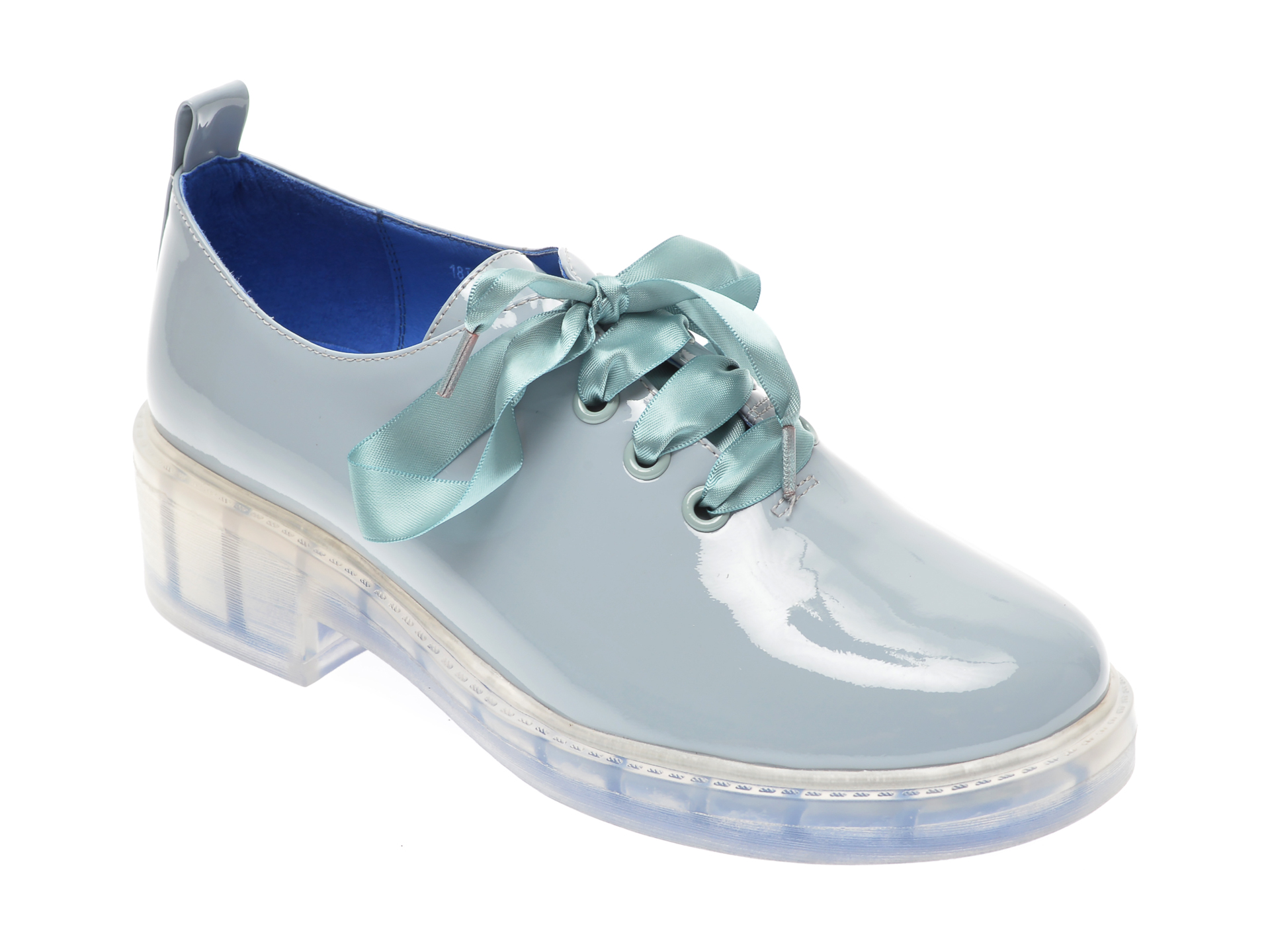 Pantofi FLAVIA PASSINI albastri, 18J2800, din piele naturala lacuita