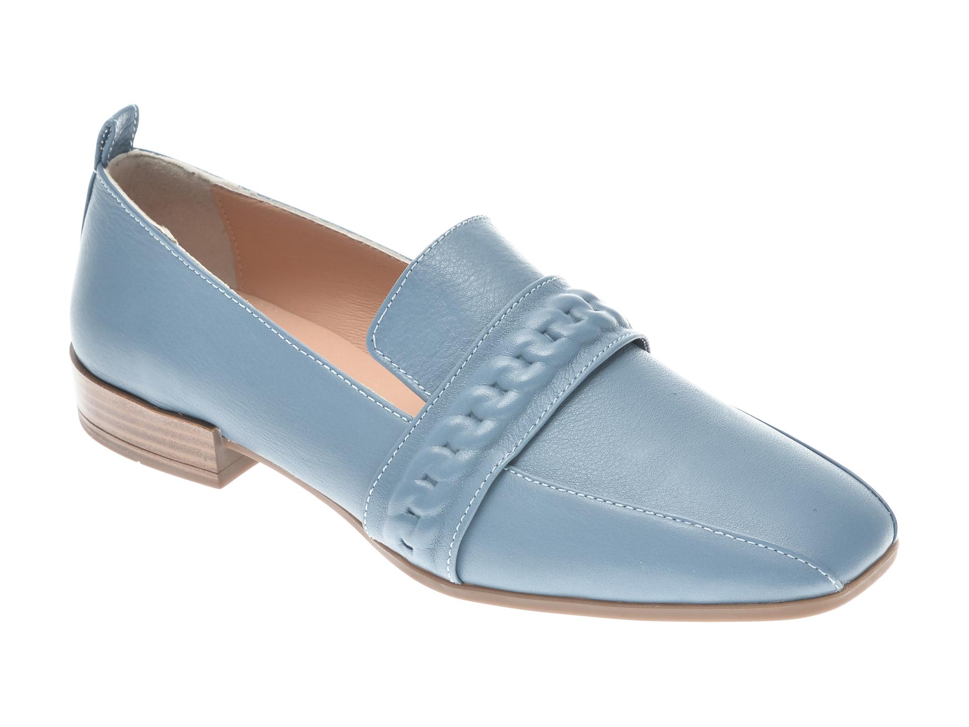 Pantofi FLAVIA PASSINI albastri, 22020, din piele naturala imagine