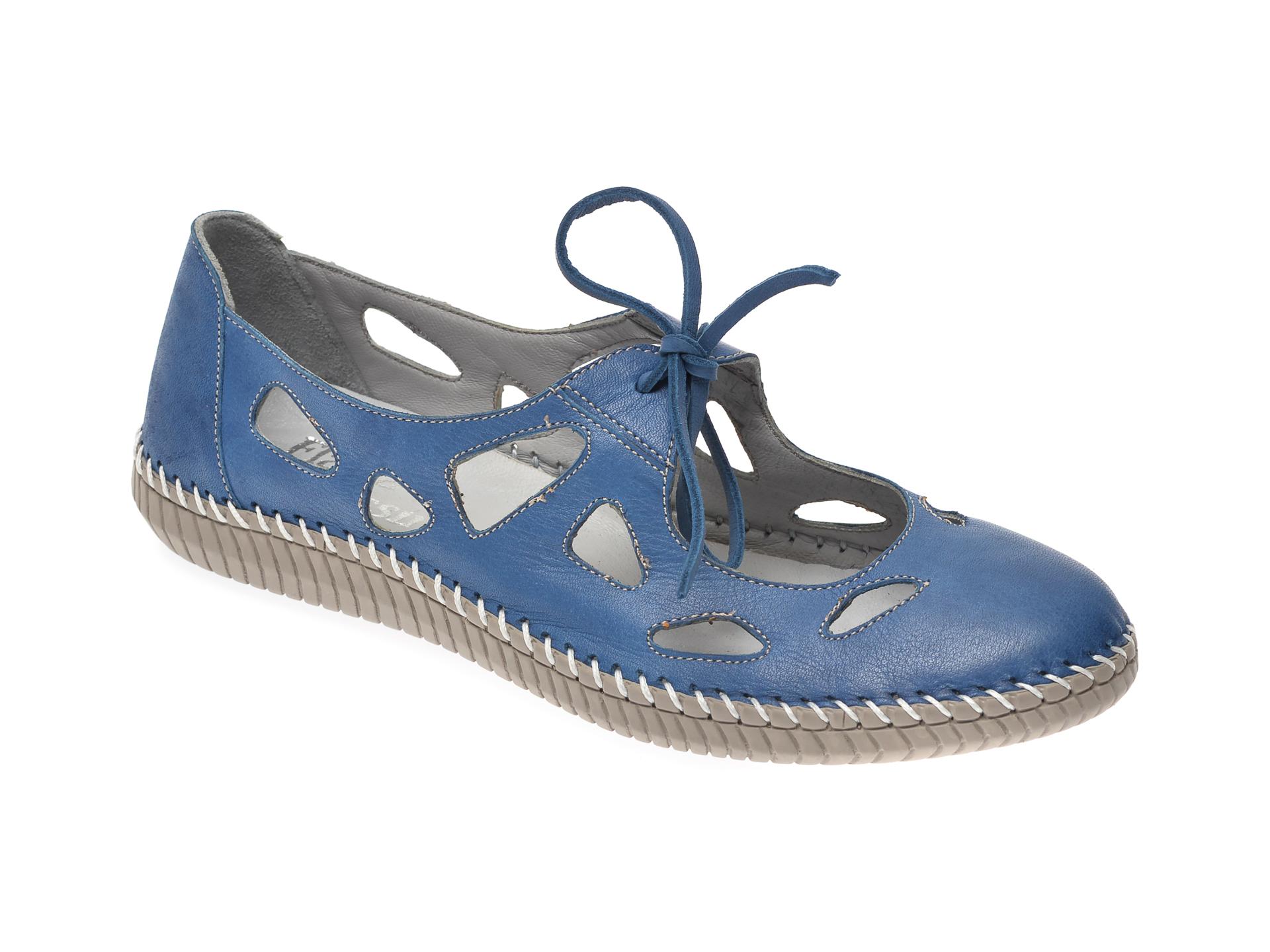 Pantofi FLAVIA PASSINI albastri, 5220, din piele naturala imagine
