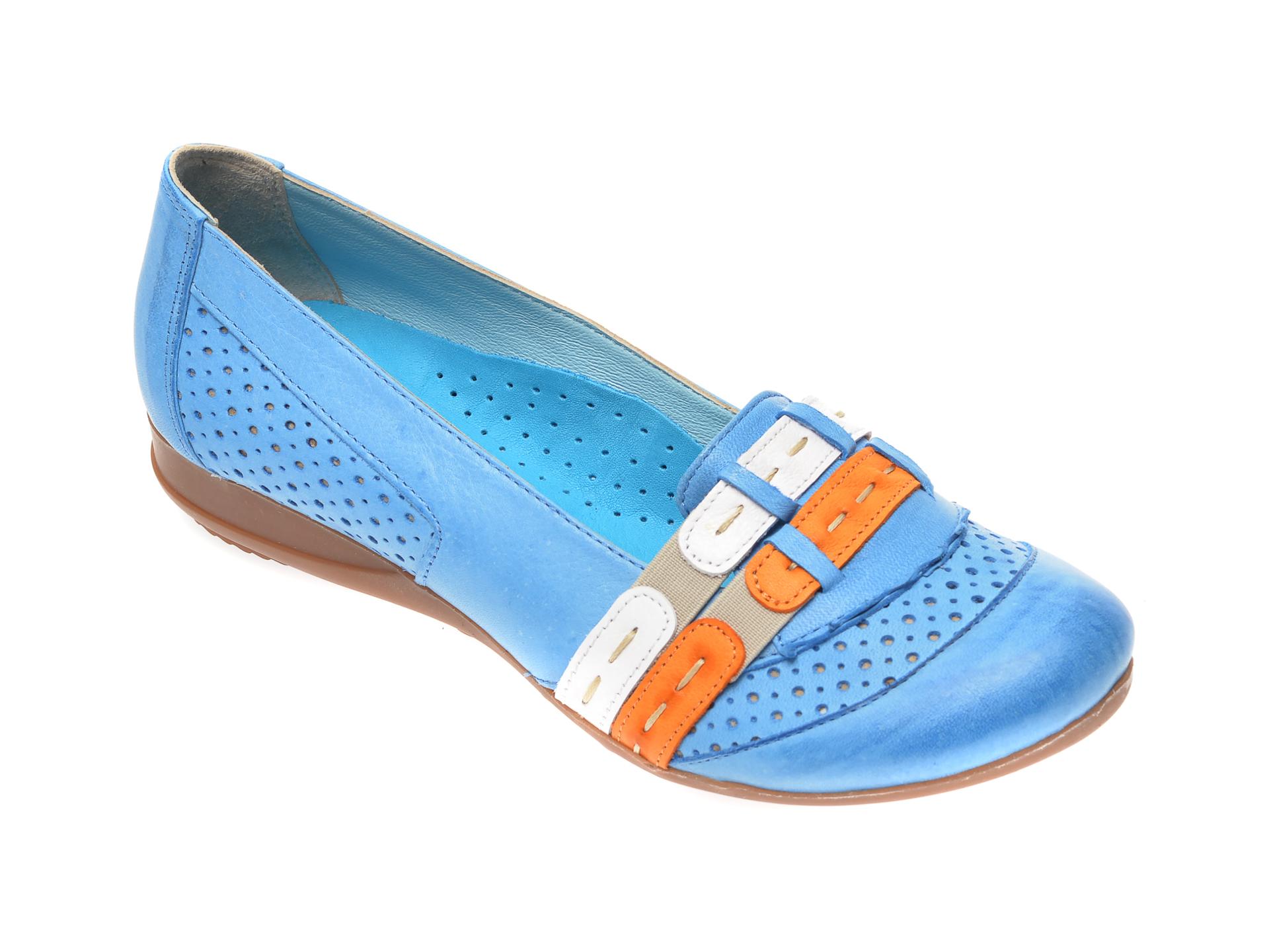 Pantofi FLAVIA PASSINI albastri, B0304, din piele naturala