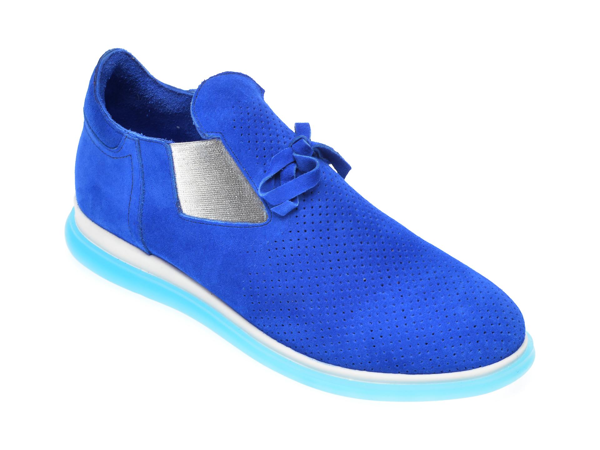 Pantofi FLAVIA PASSINI albastrii, 402712, din piele intoarsa