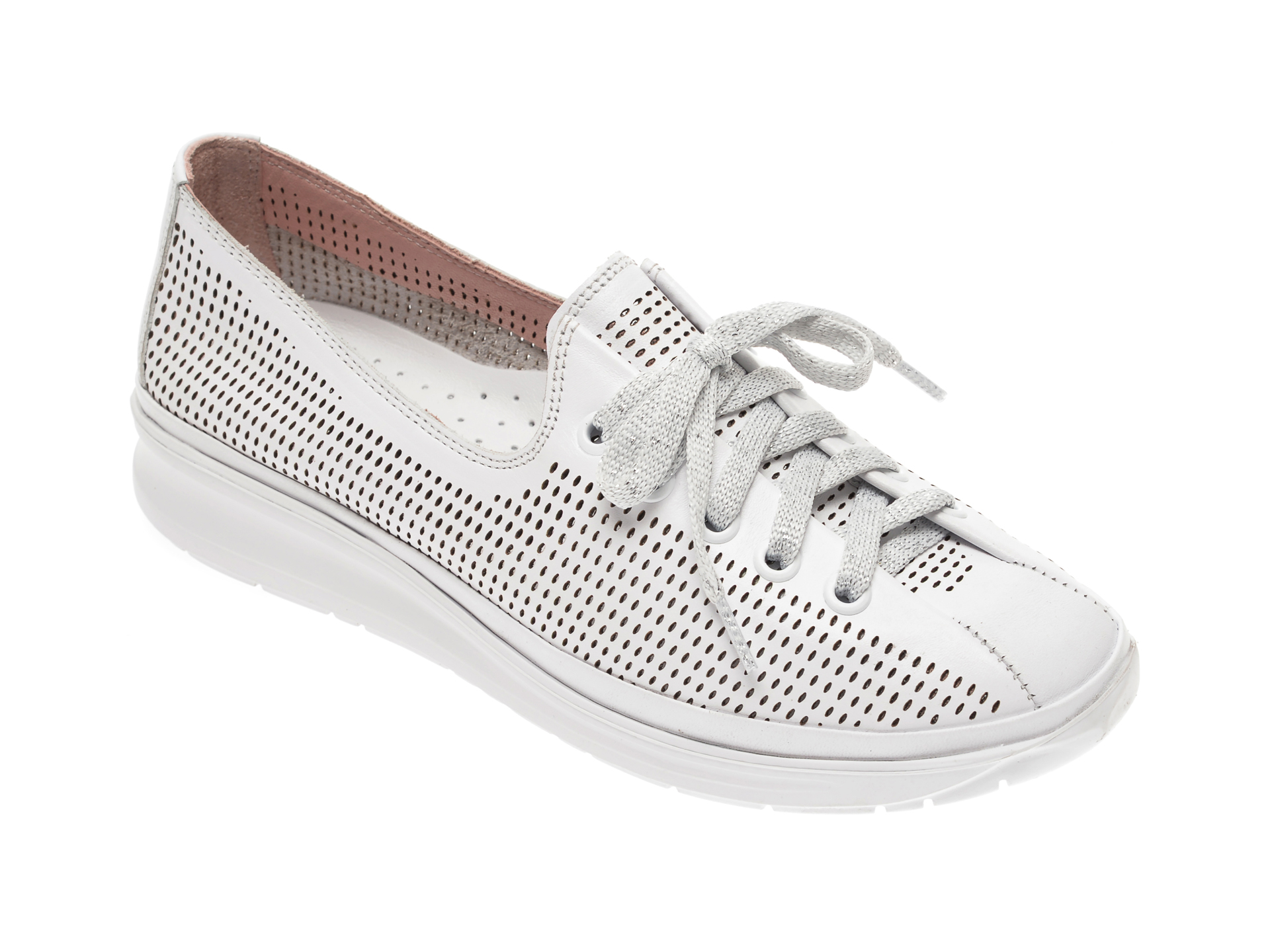 Pantofi FLAVIA PASSINI albi, 0182096, din piele naturala