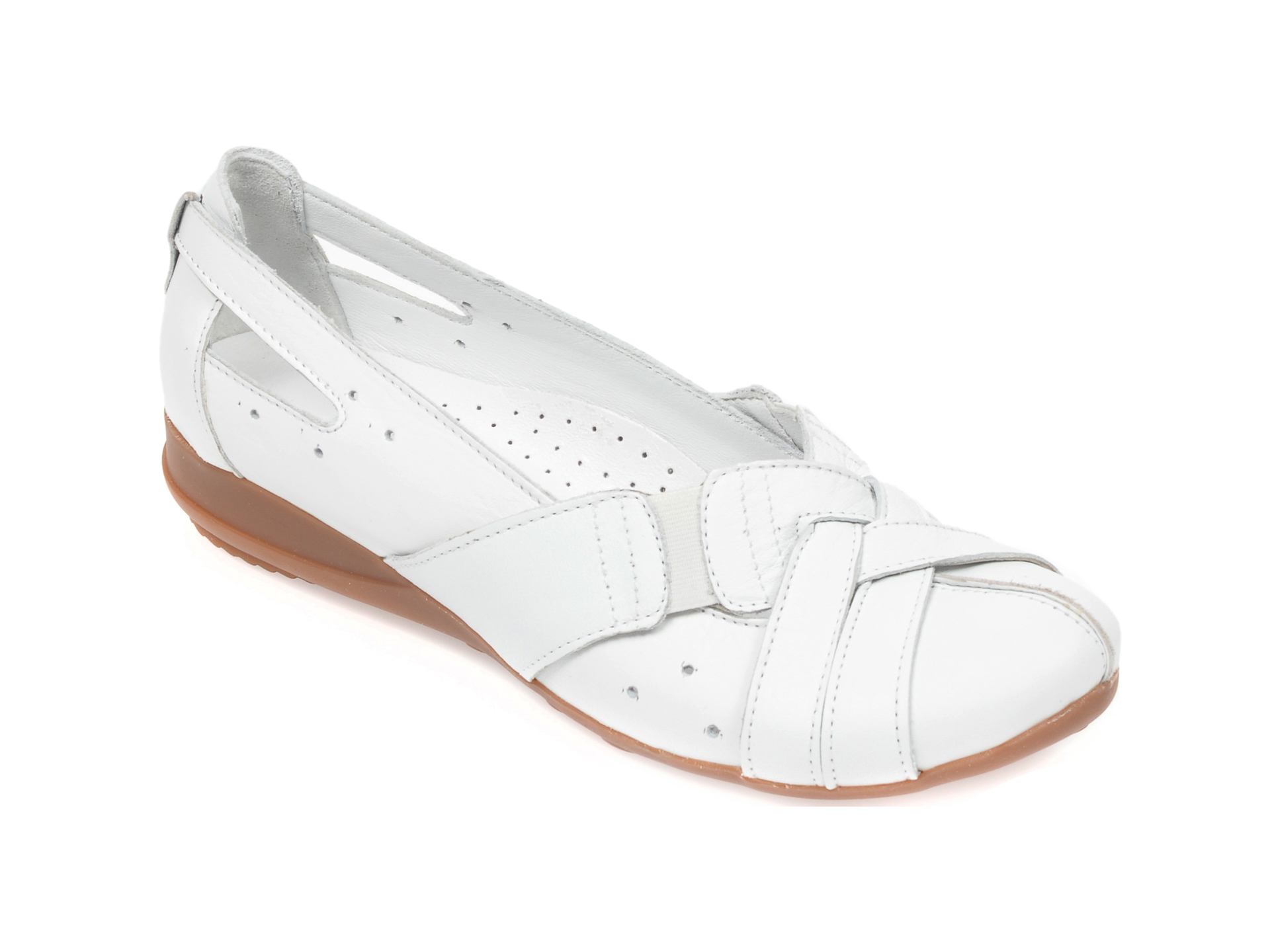 Pantofi FLAVIA PASSINI albi, 0301, din piele naturala