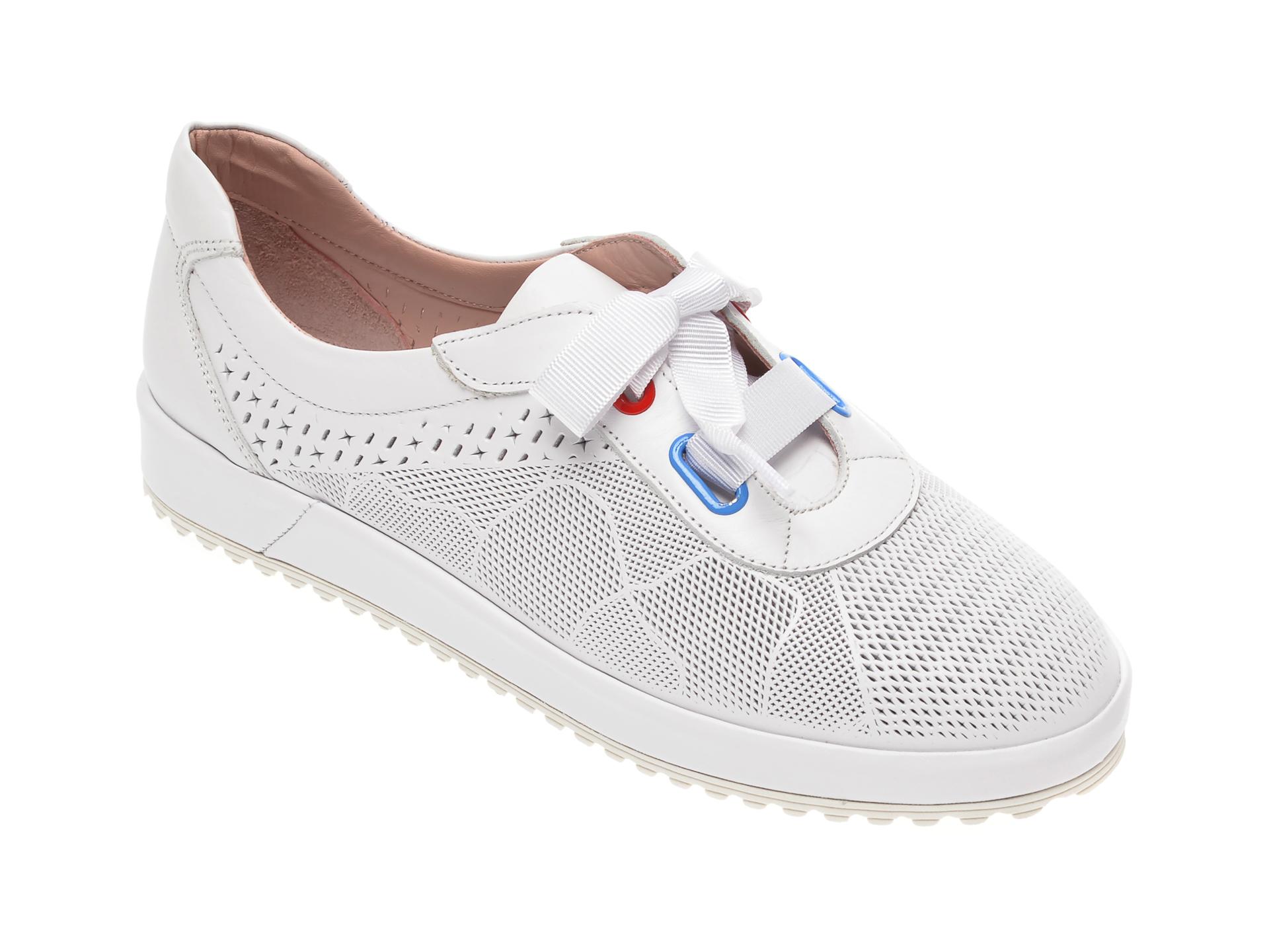 Pantofi FLAVIA PASSINI albi, 039300, din piele naturala imagine