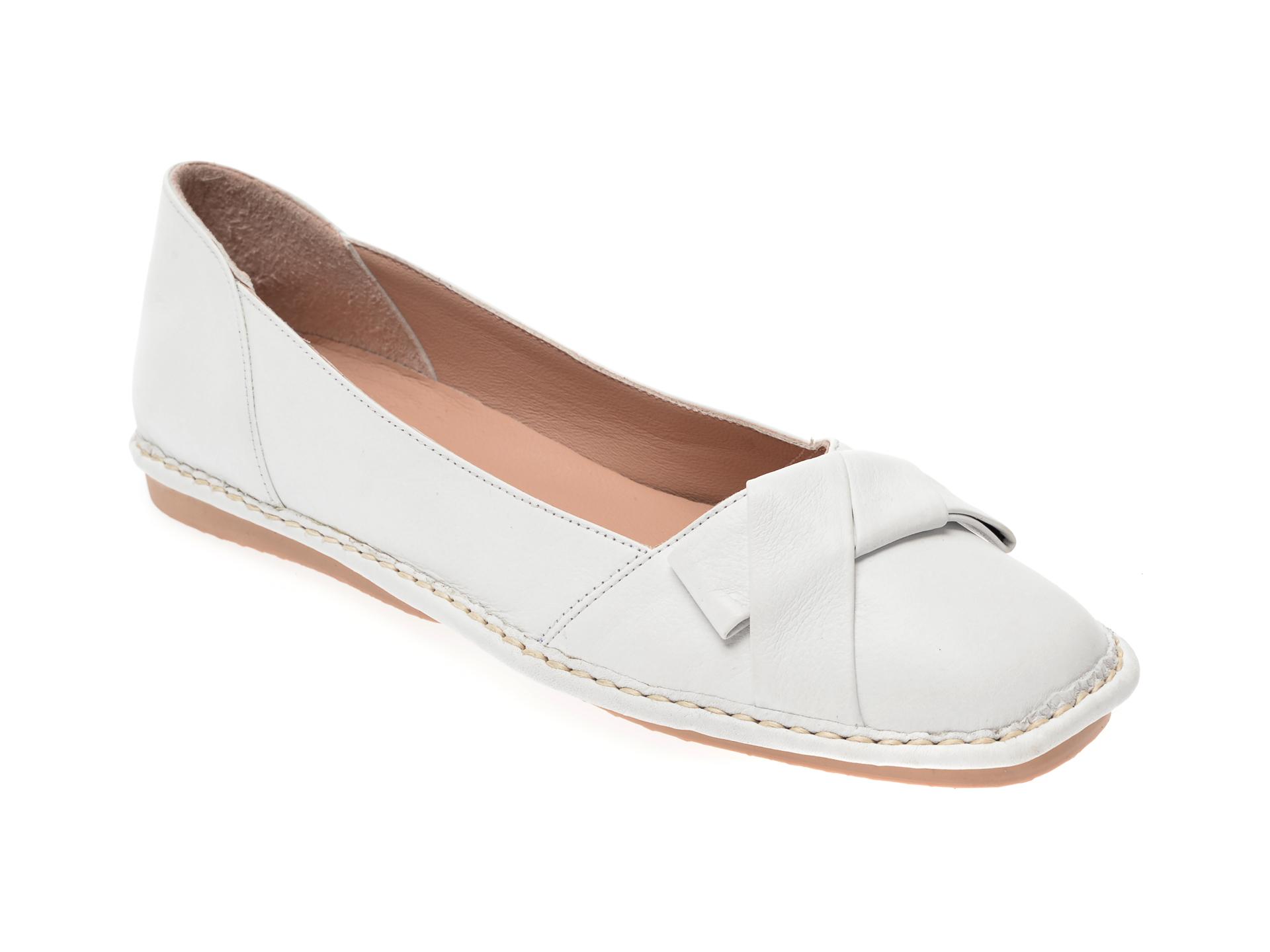 Pantofi FLAVIA PASSINI albi, 05390, din piele naturala
