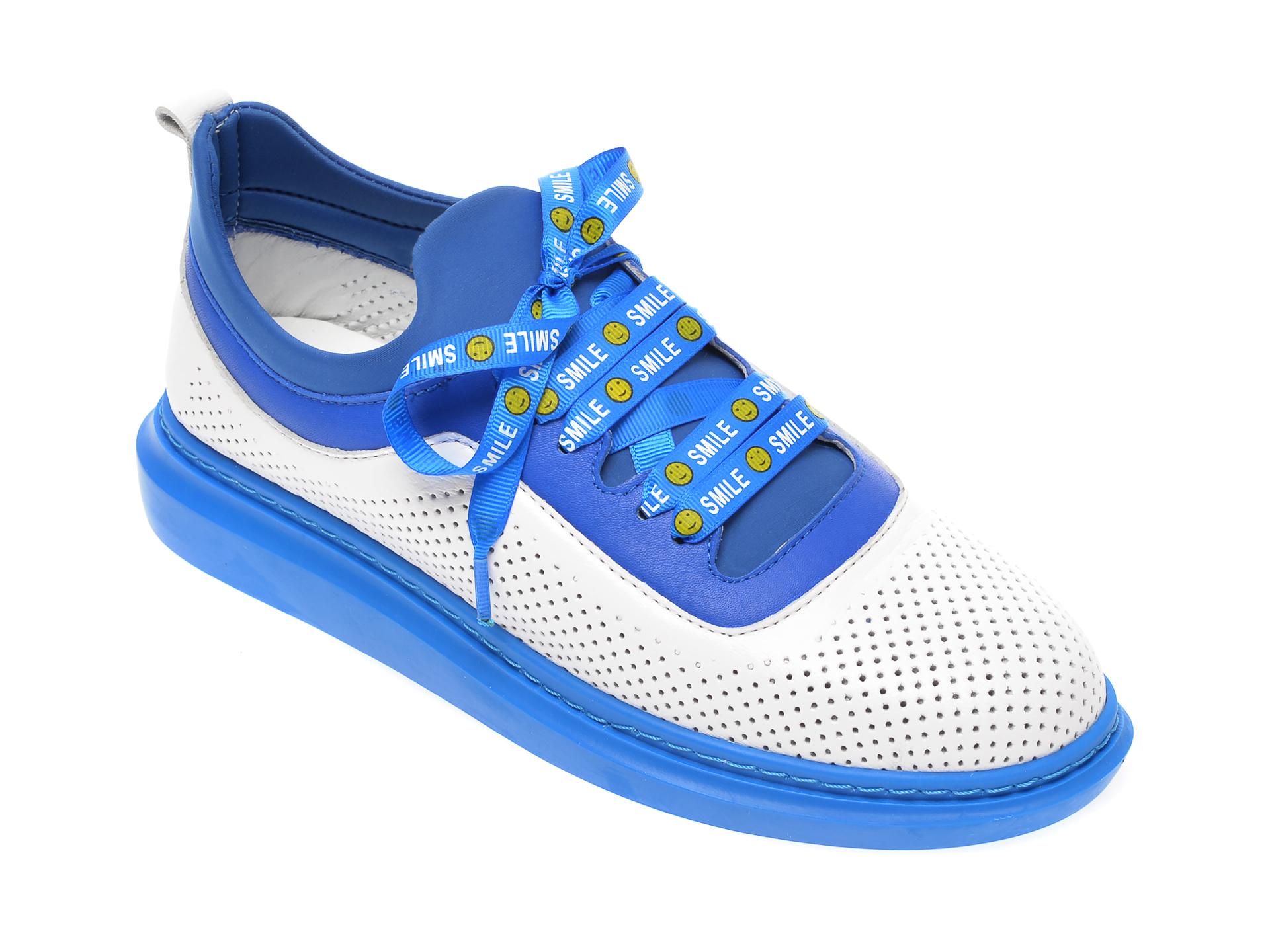 Pantofi FLAVIA PASSINI albi, 0612144, din piele naturala imagine