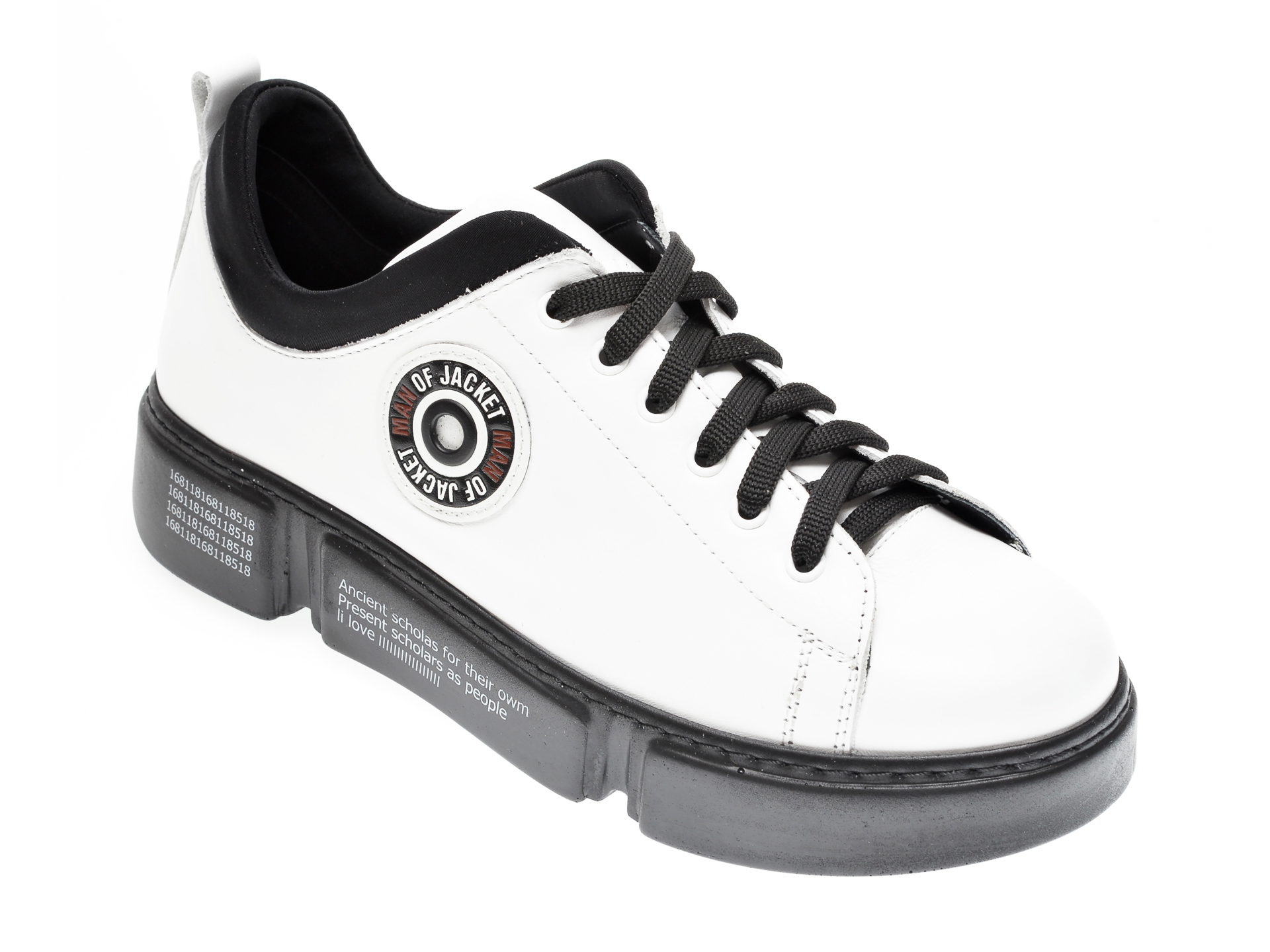Pantofi FLAVIA PASSINI albi, 12510, din piele naturala imagine
