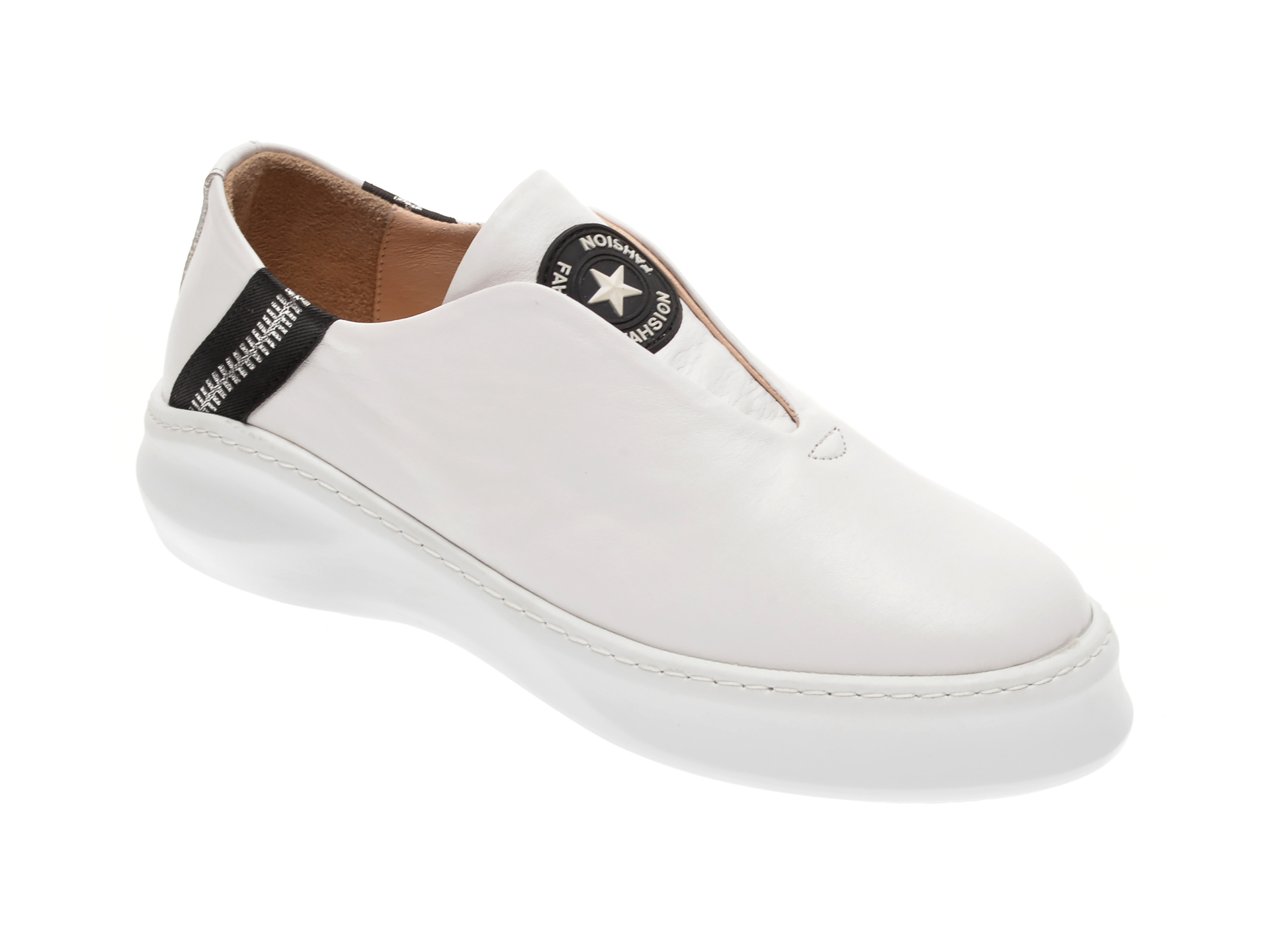 Pantofi FLAVIA PASSINI albi, 125162, din piele naturala imagine