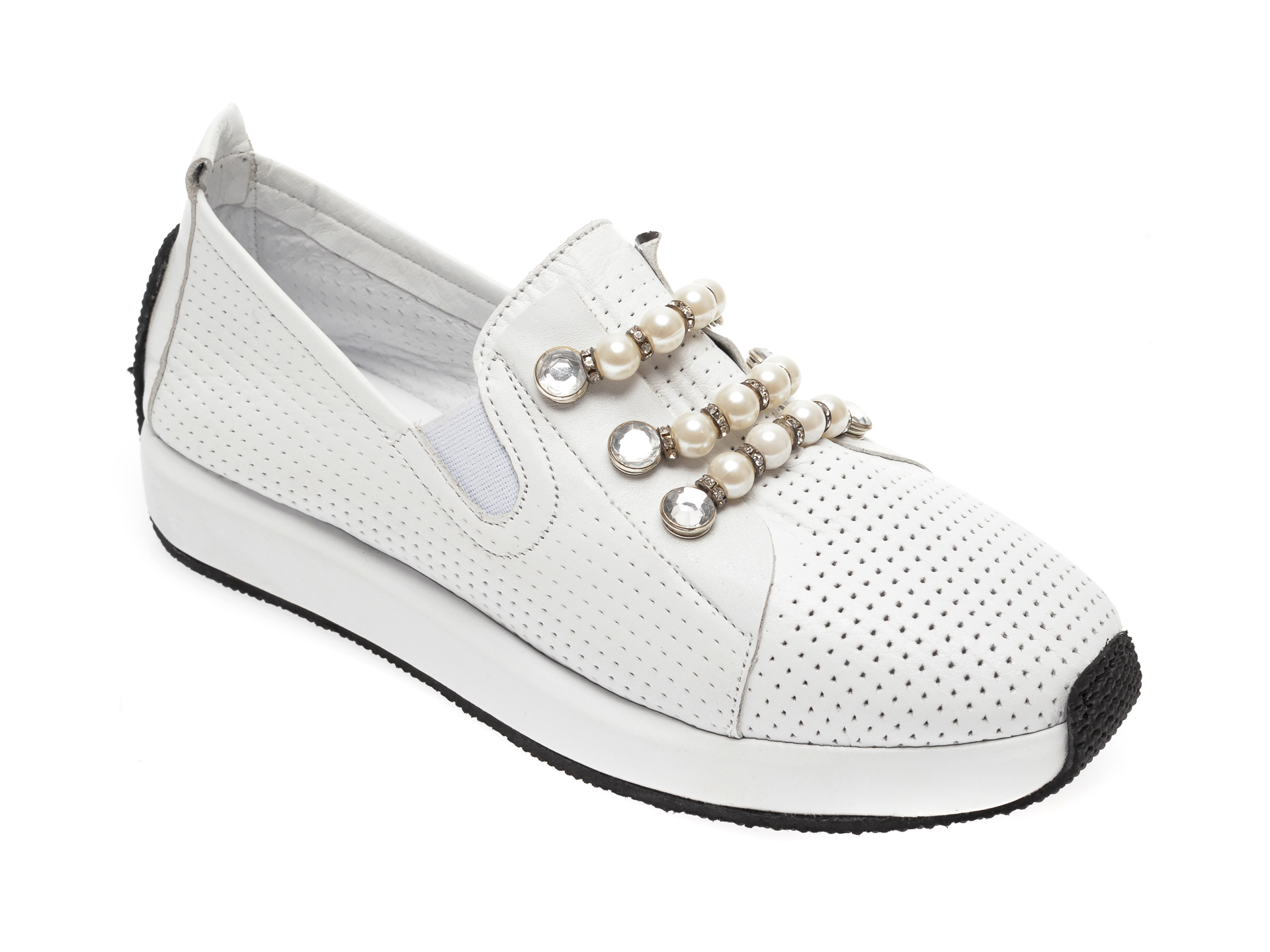 Pantofi FLAVIA PASSINI albi, 1696031, din piele naturala