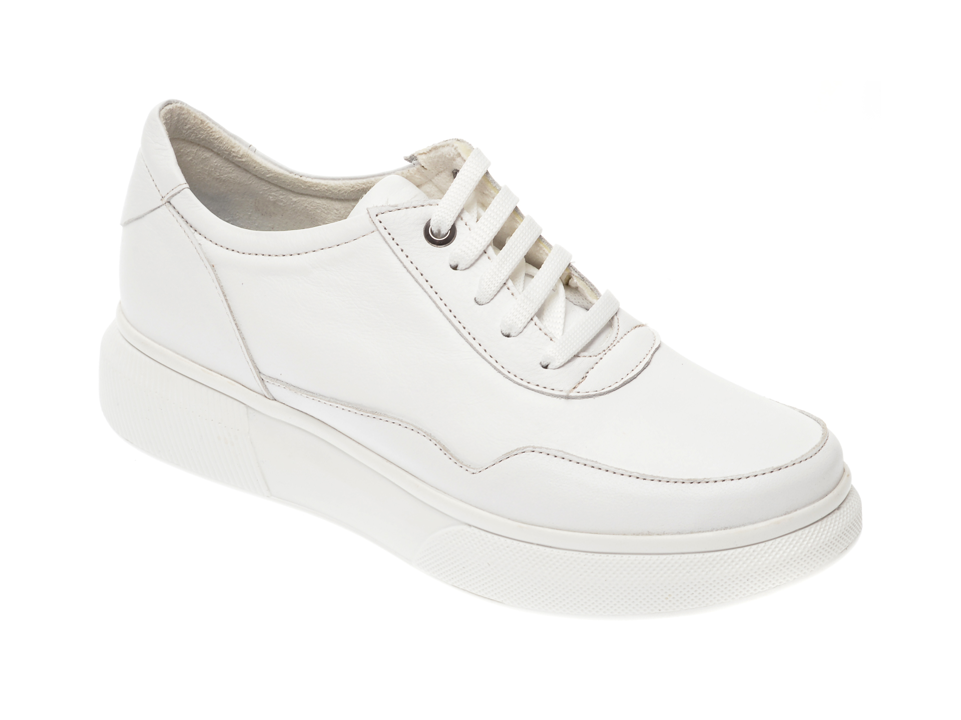 Pantofi FLAVIA PASSINI albi, 191011, din piele naturala