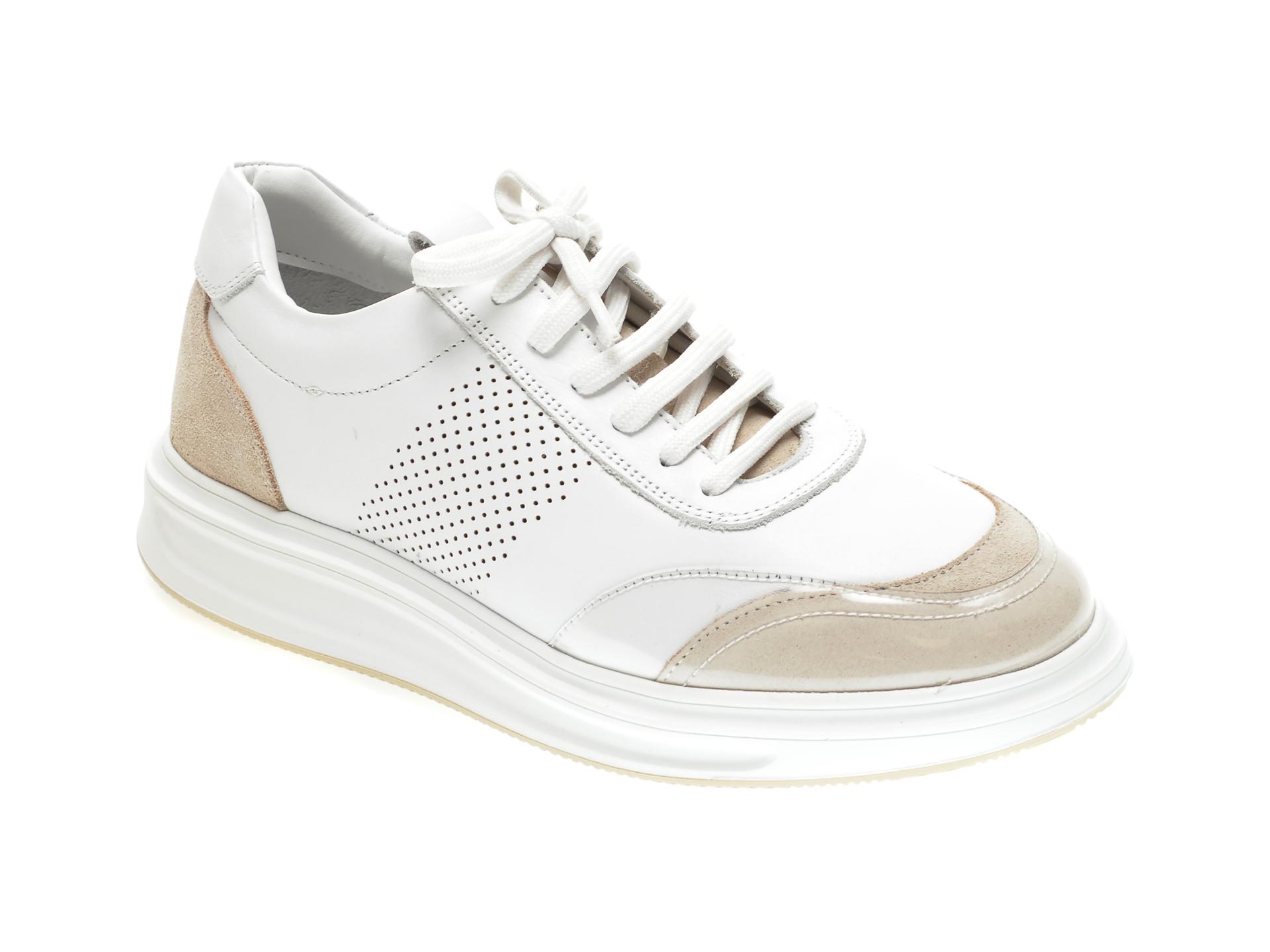 Pantofi FLAVIA PASSINI albi, 192360, din piele naturala imagine