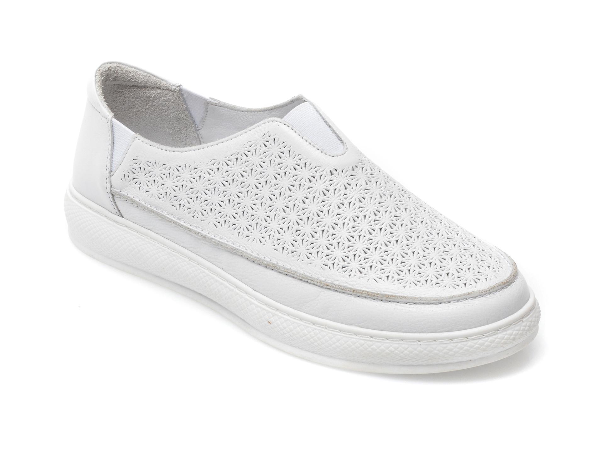 Pantofi FLAVIA PASSINI albi, 193SP84, din piele naturala imagine otter.ro 2021