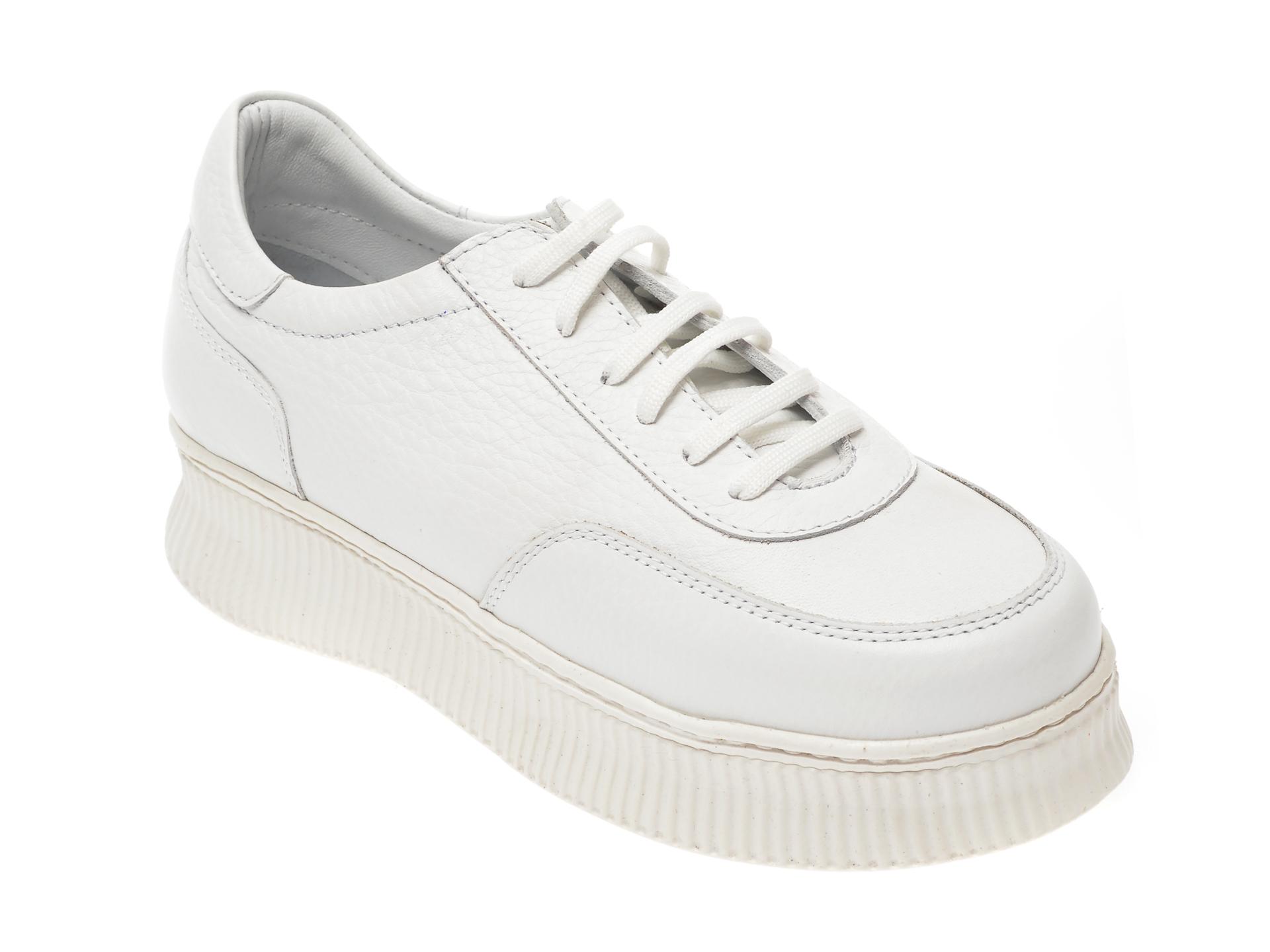 Pantofi FLAVIA PASSINI albi, 20310, din piele naturala