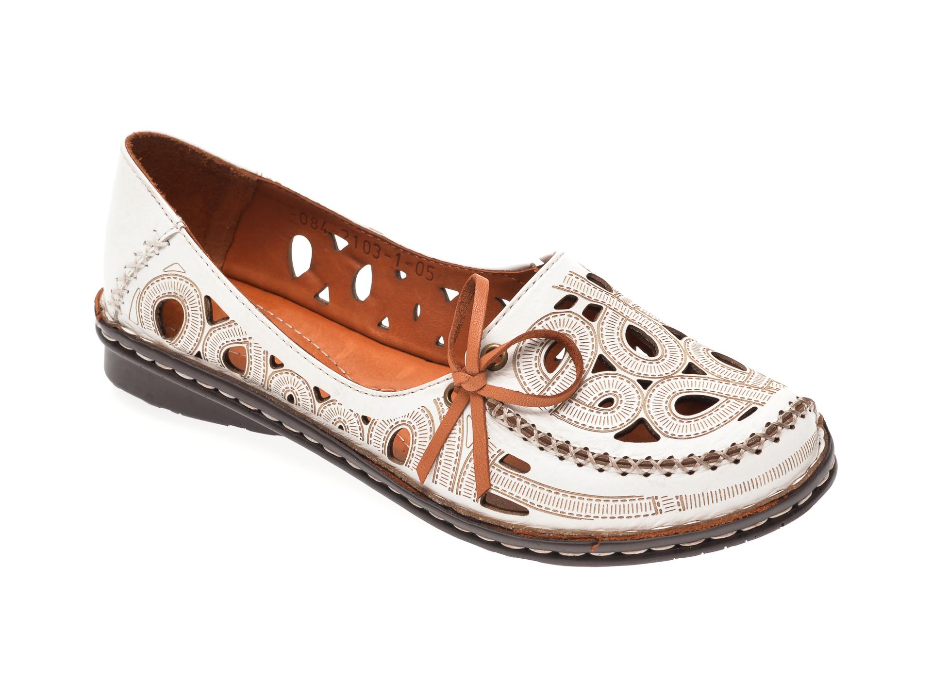 Pantofi FLAVIA PASSINI albi, 21031, din piele naturala
