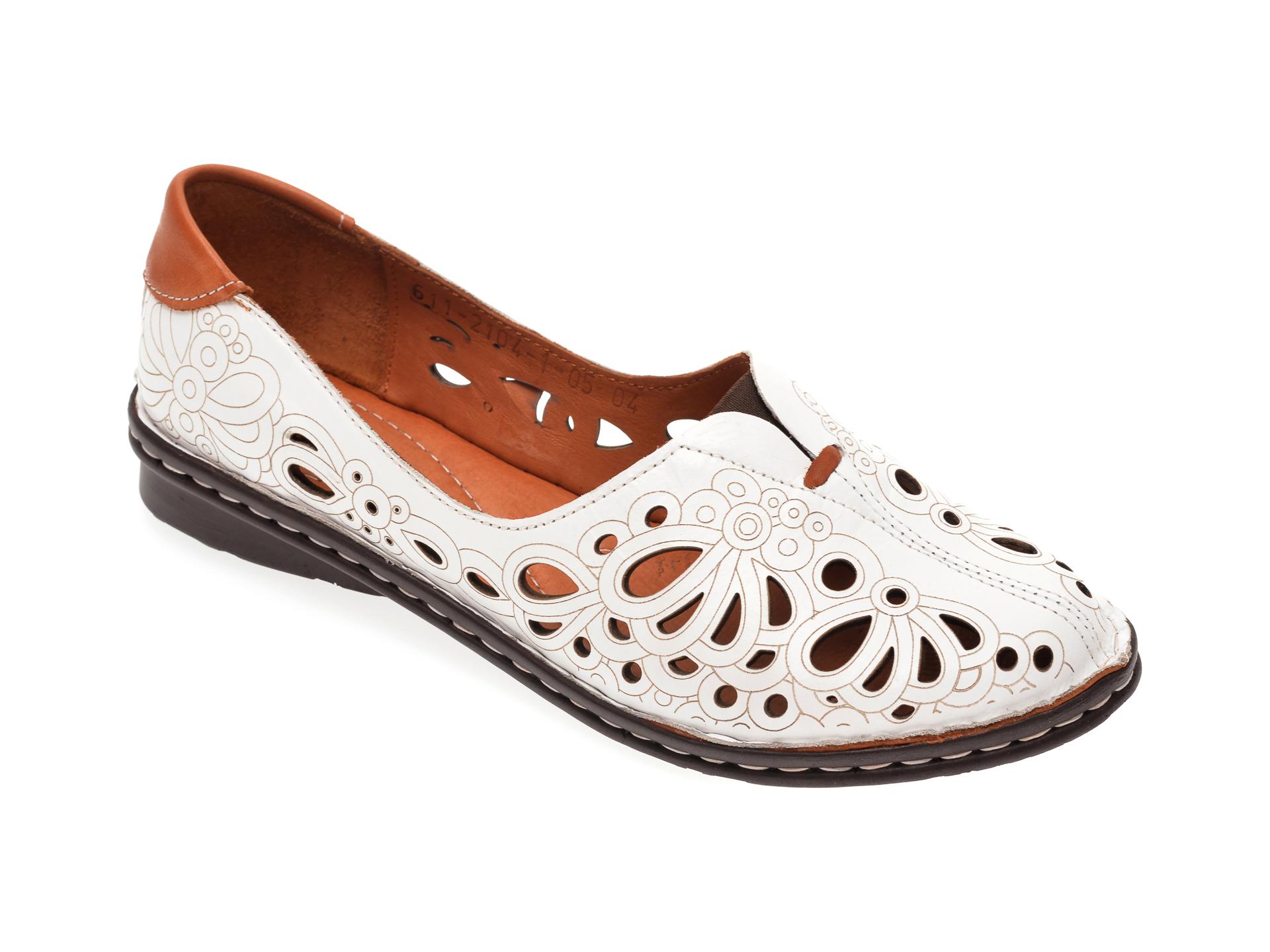 Pantofi FLAVIA PASSINI albi, 21041, din piele naturala