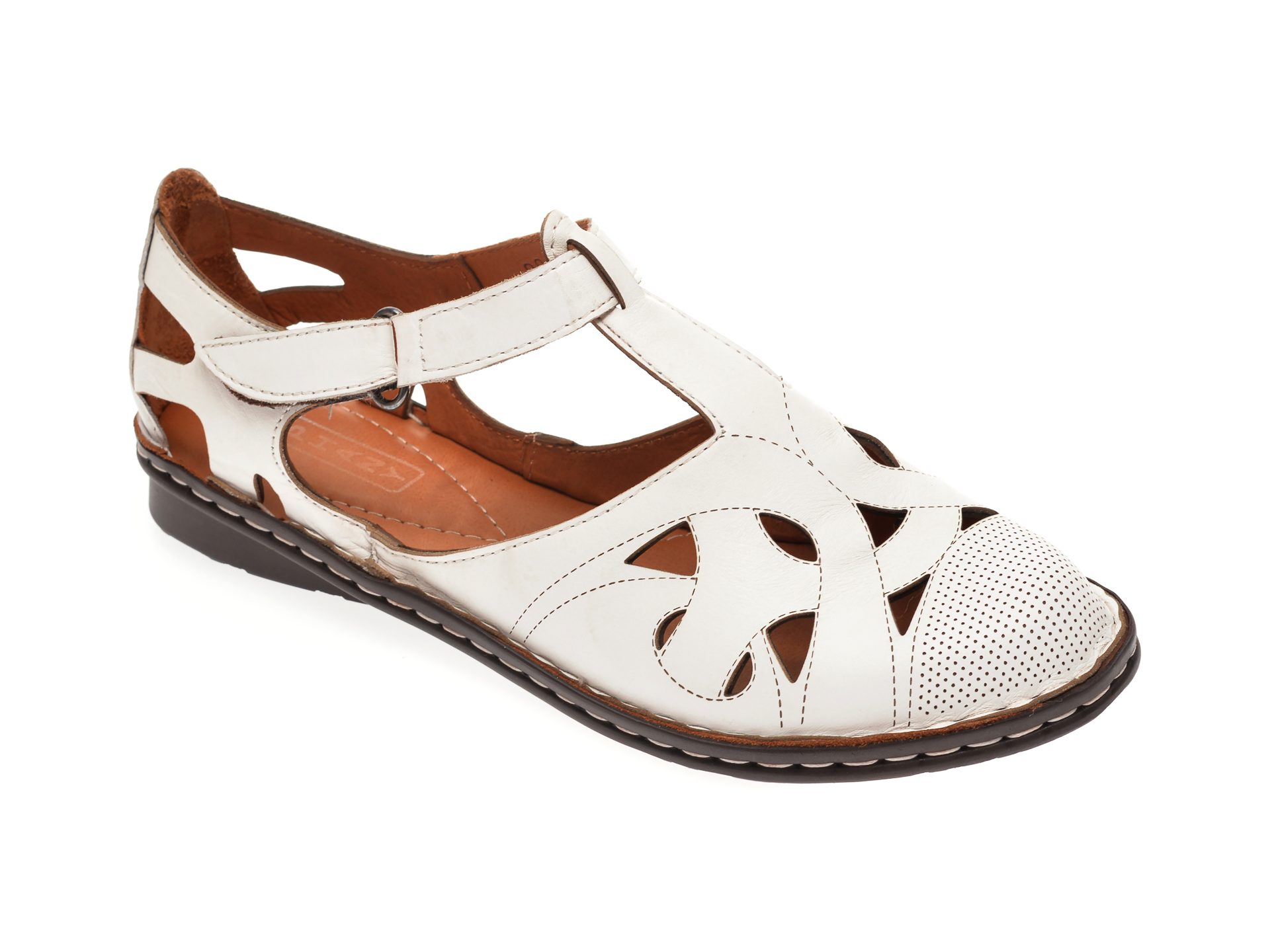 Pantofi FLAVIA PASSINI albi, 21451, din piele naturala imagine