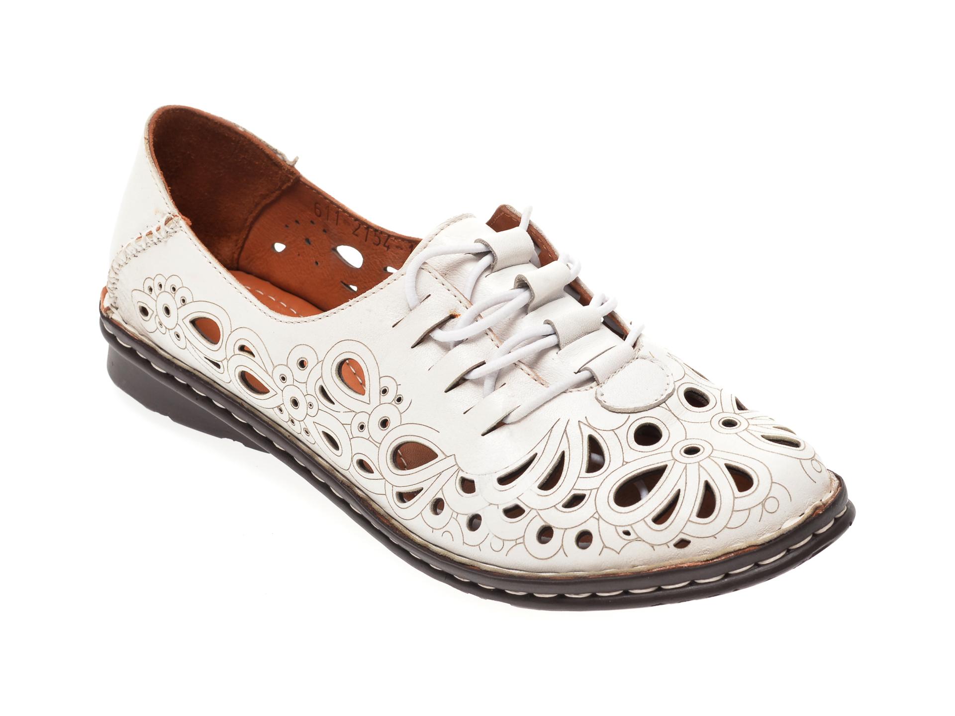 Pantofi FLAVIA PASSINI albi, 21541, din piele naturala imagine