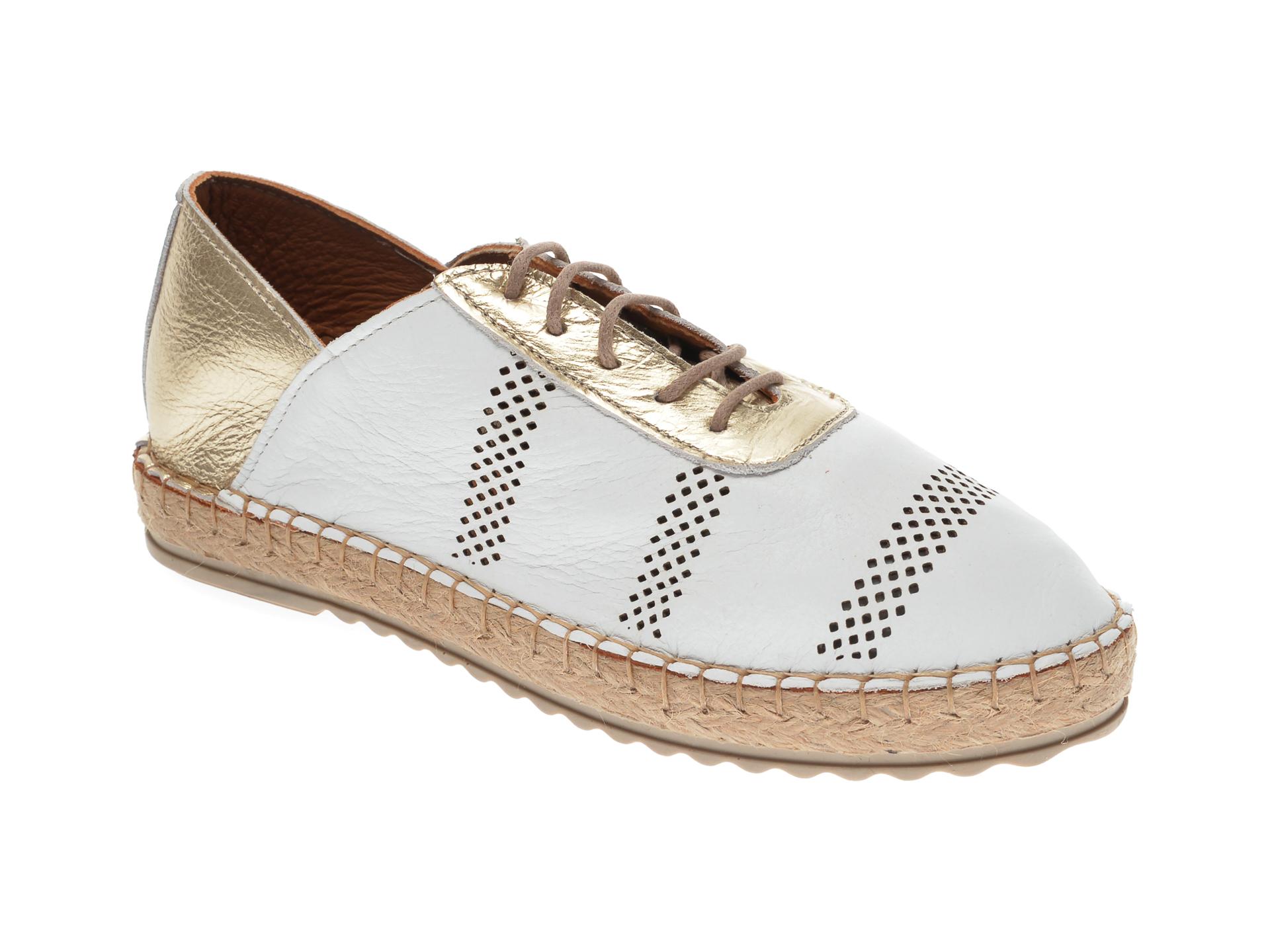 Pantofi FLAVIA PASSINI albi, 21Y513, din piele naturala New
