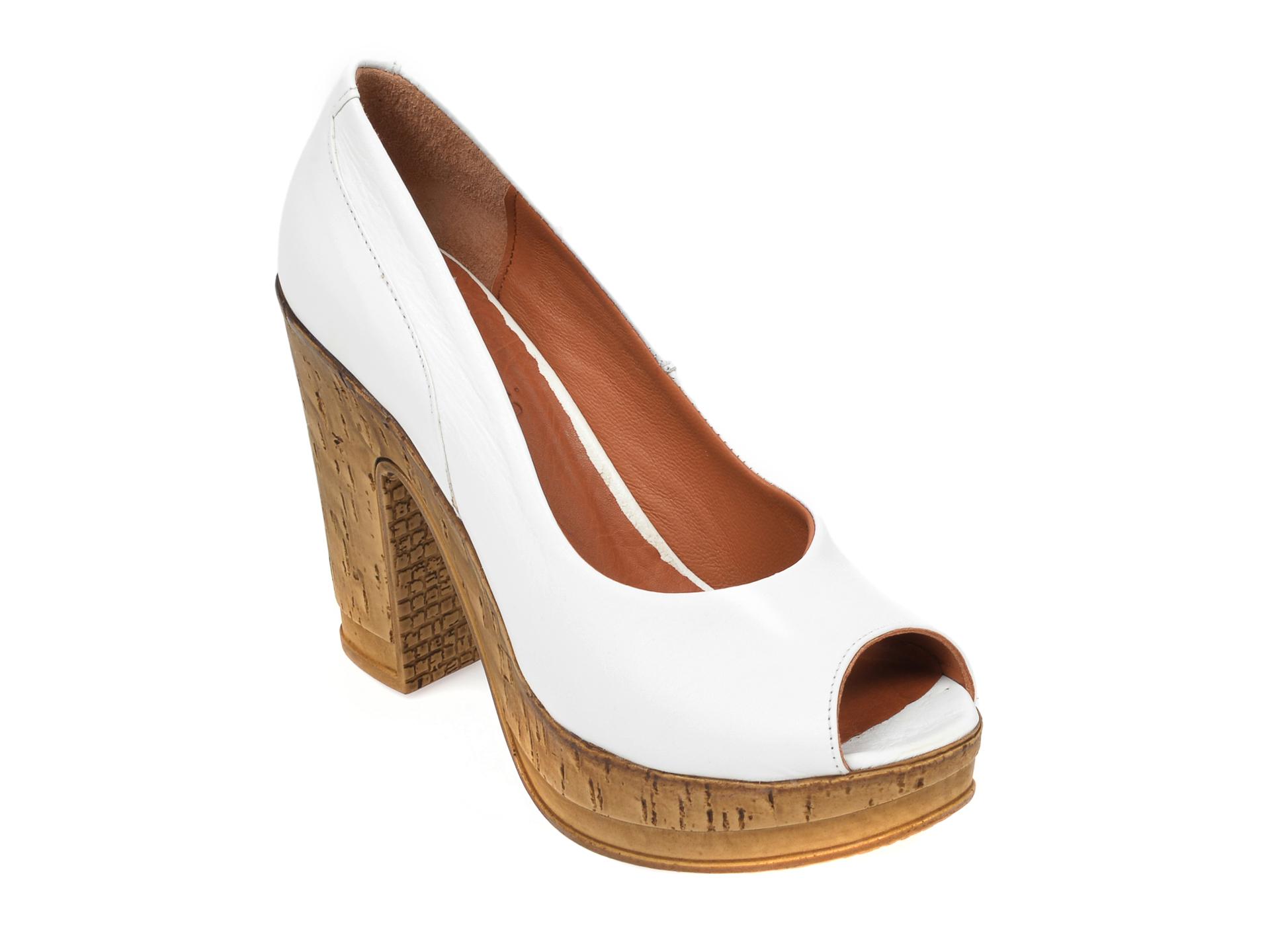 Pantofi FLAVIA PASSINI albi, 2602, din piele naturala imagine