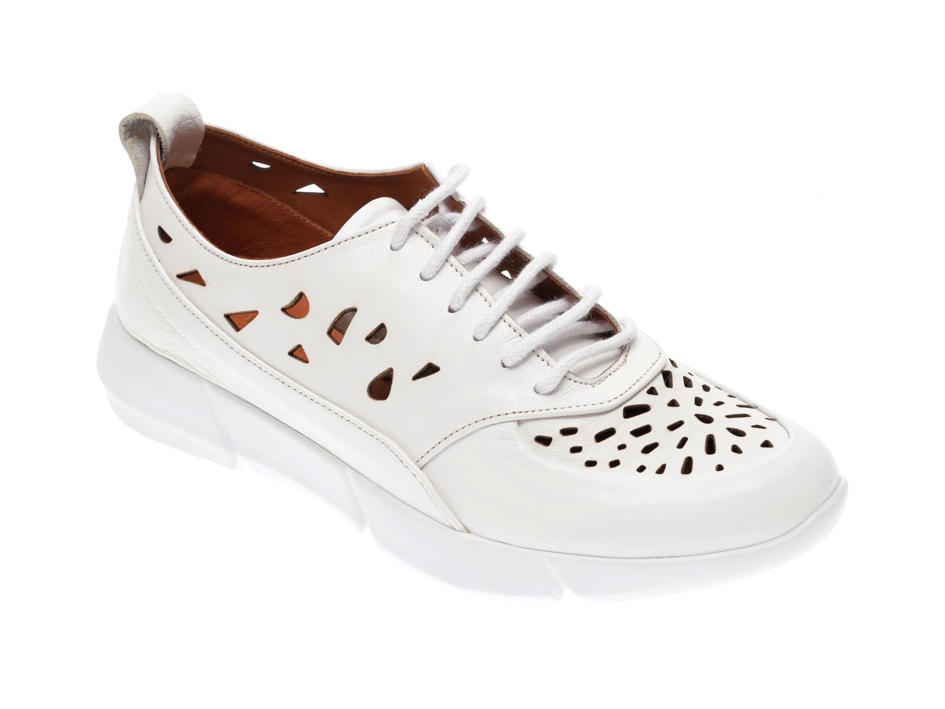 Pantofi FLAVIA PASSINI albi, 283661, din piele naturala