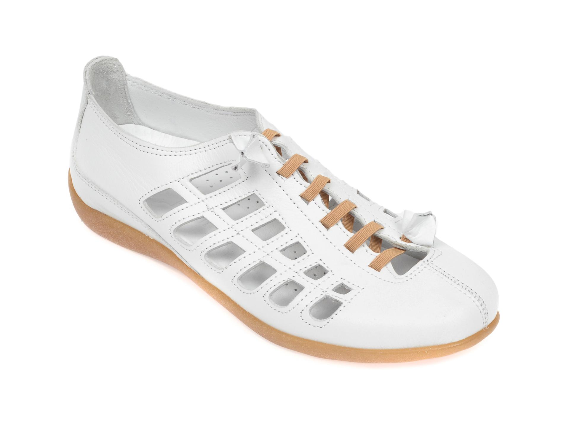 Pantofi FLAVIA PASSINI albi, 305, din piele naturala imagine