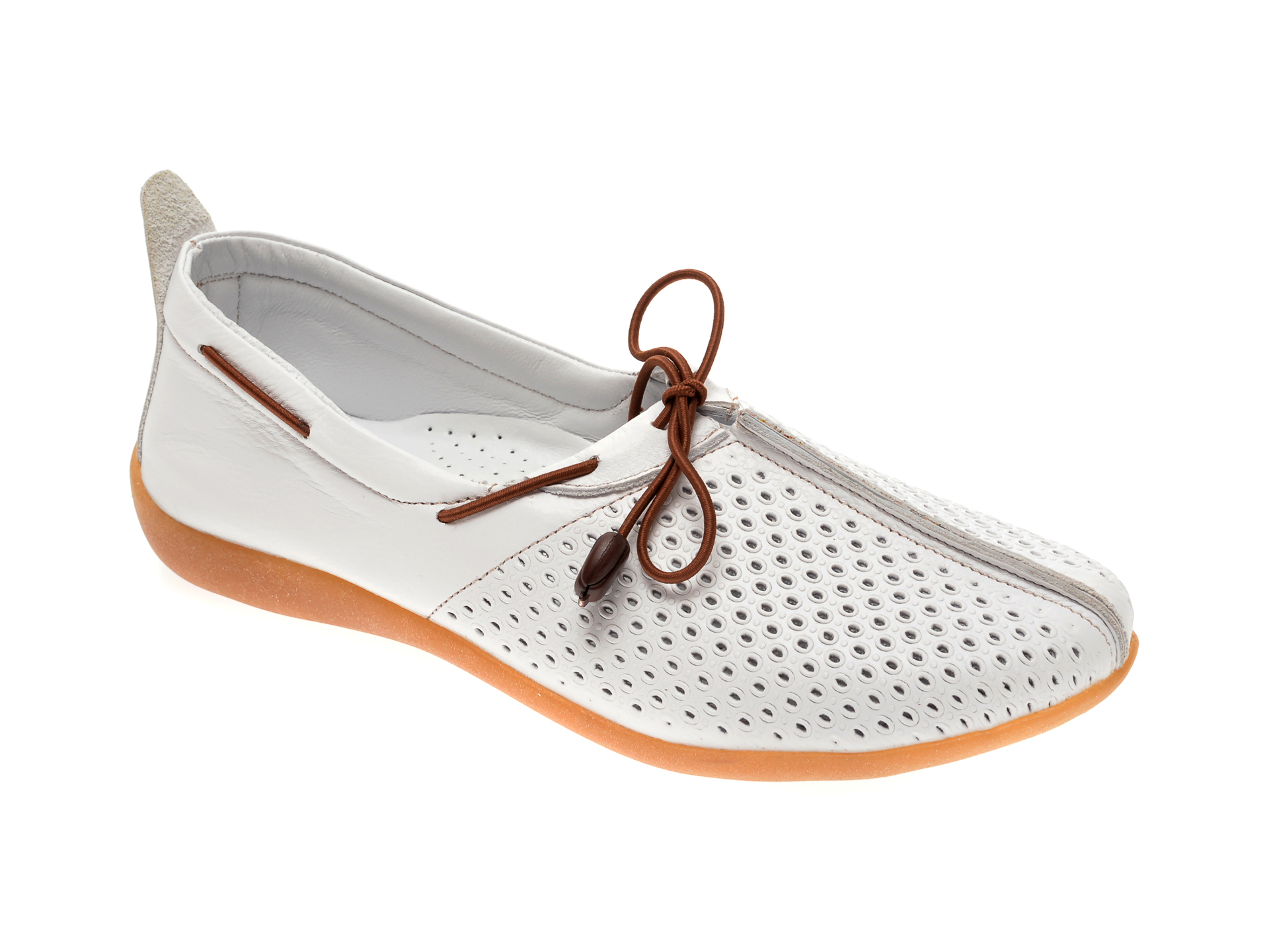 Pantofi FLAVIA PASSINI albi, 306, din piele naturala