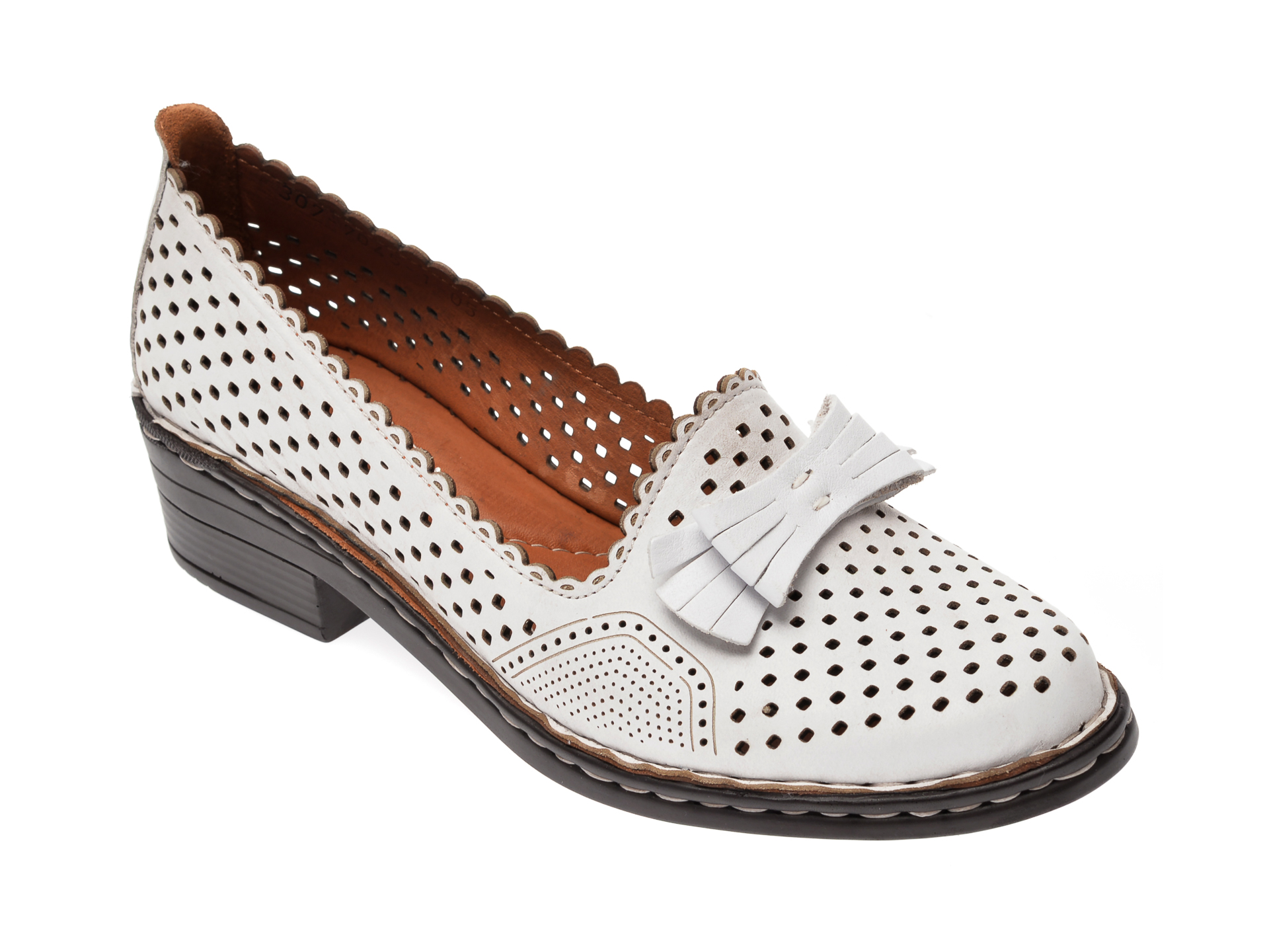 Pantofi FLAVIA PASSINI albi, 3077045, din piele naturala