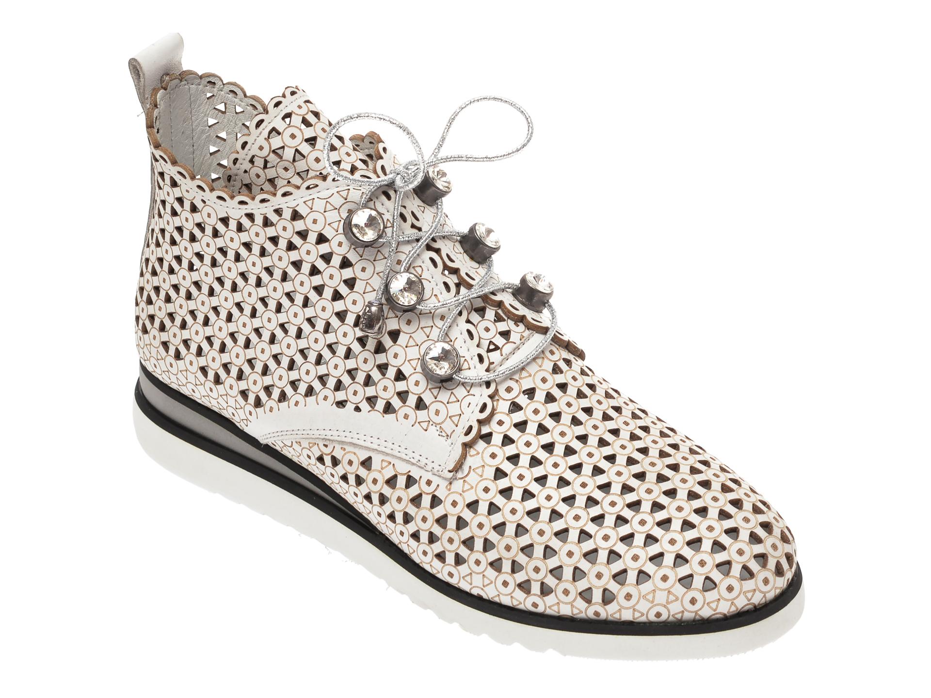 Pantofi FLAVIA PASSINI albi, 377703, din piele naturala