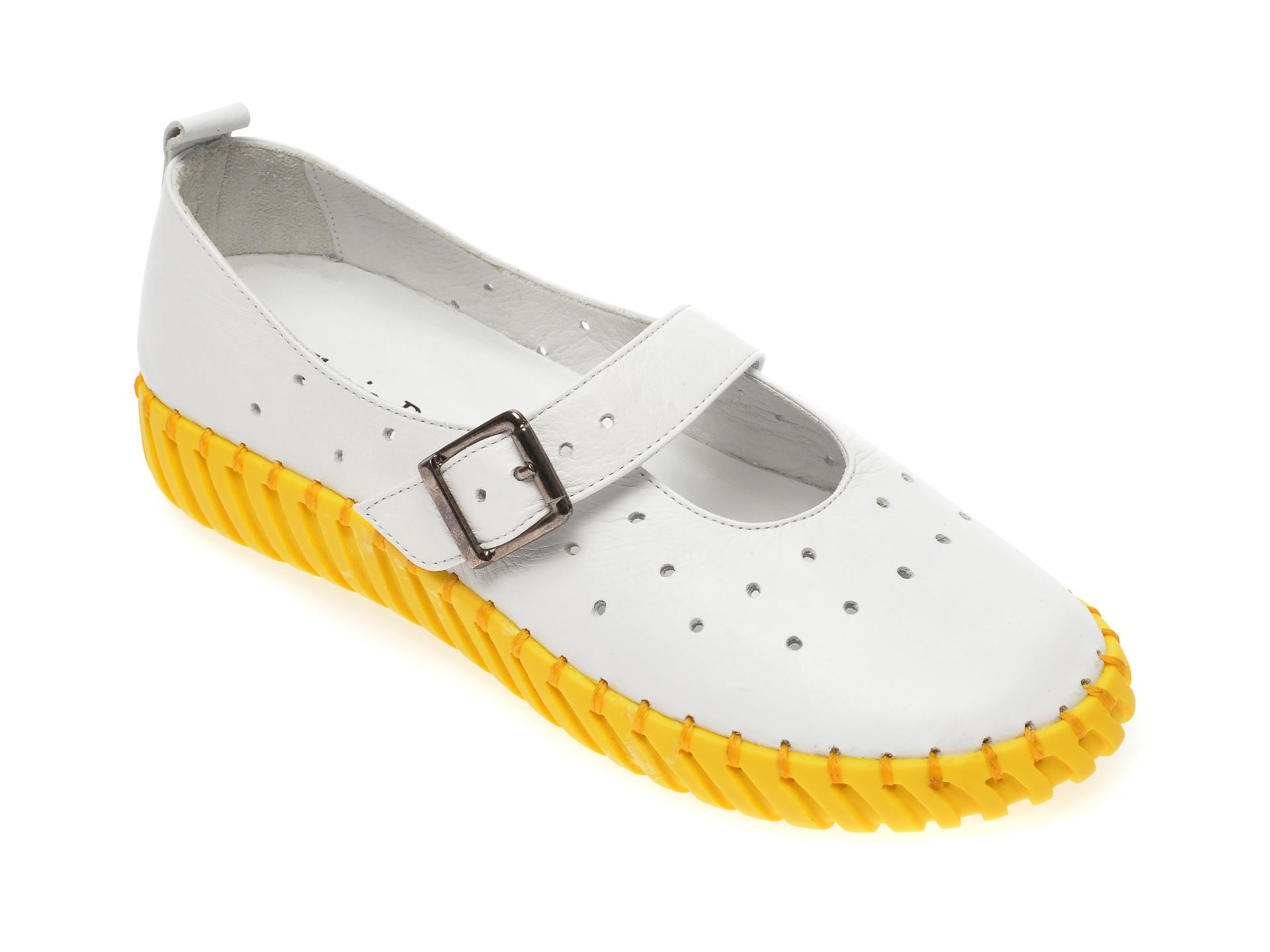 Pantofi FLAVIA PASSINI albi, 4261009, din piele naturala imagine