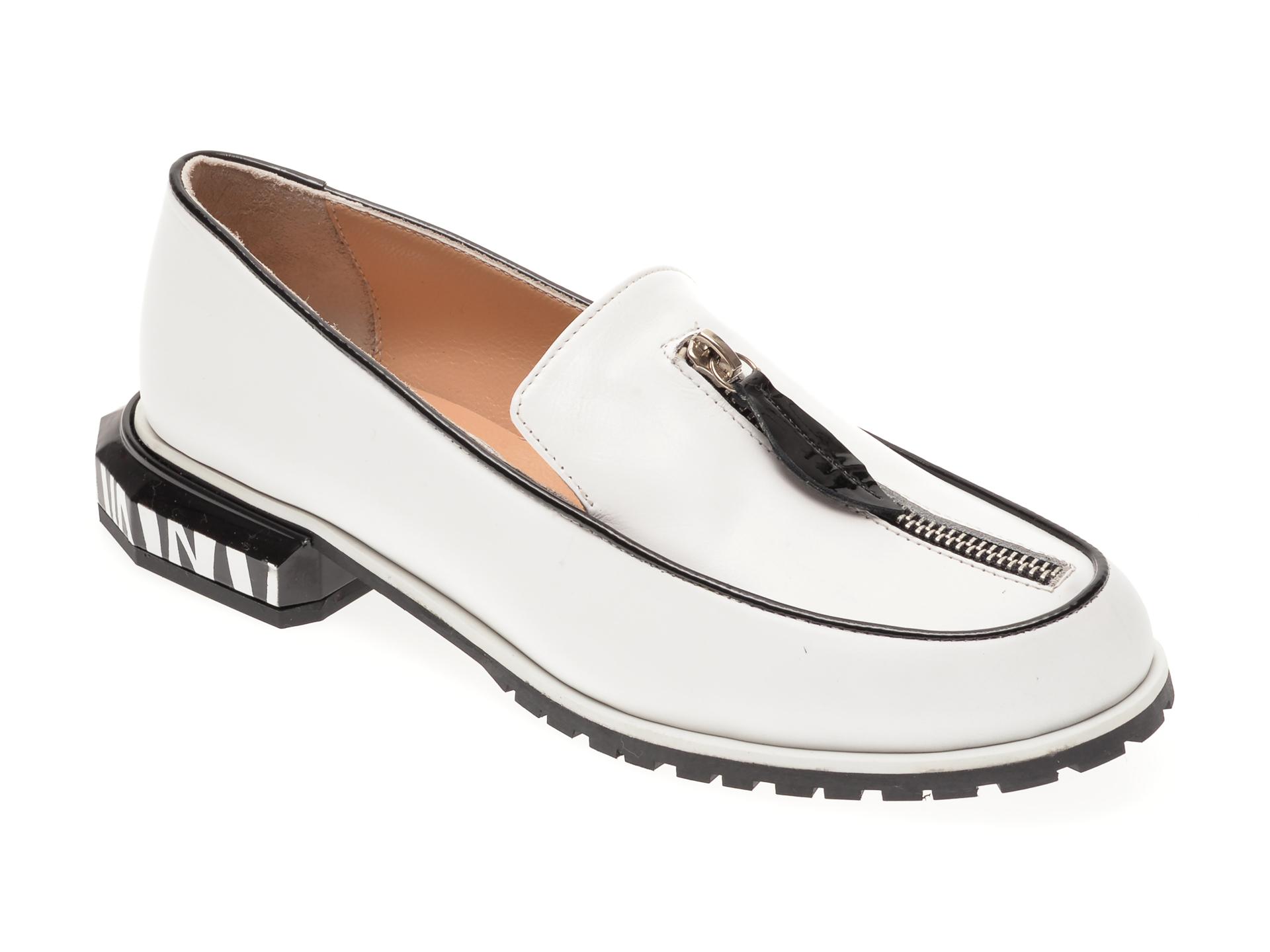 Pantofi FLAVIA PASSINI albi, 5592012, din piele naturala imagine otter.ro 2021