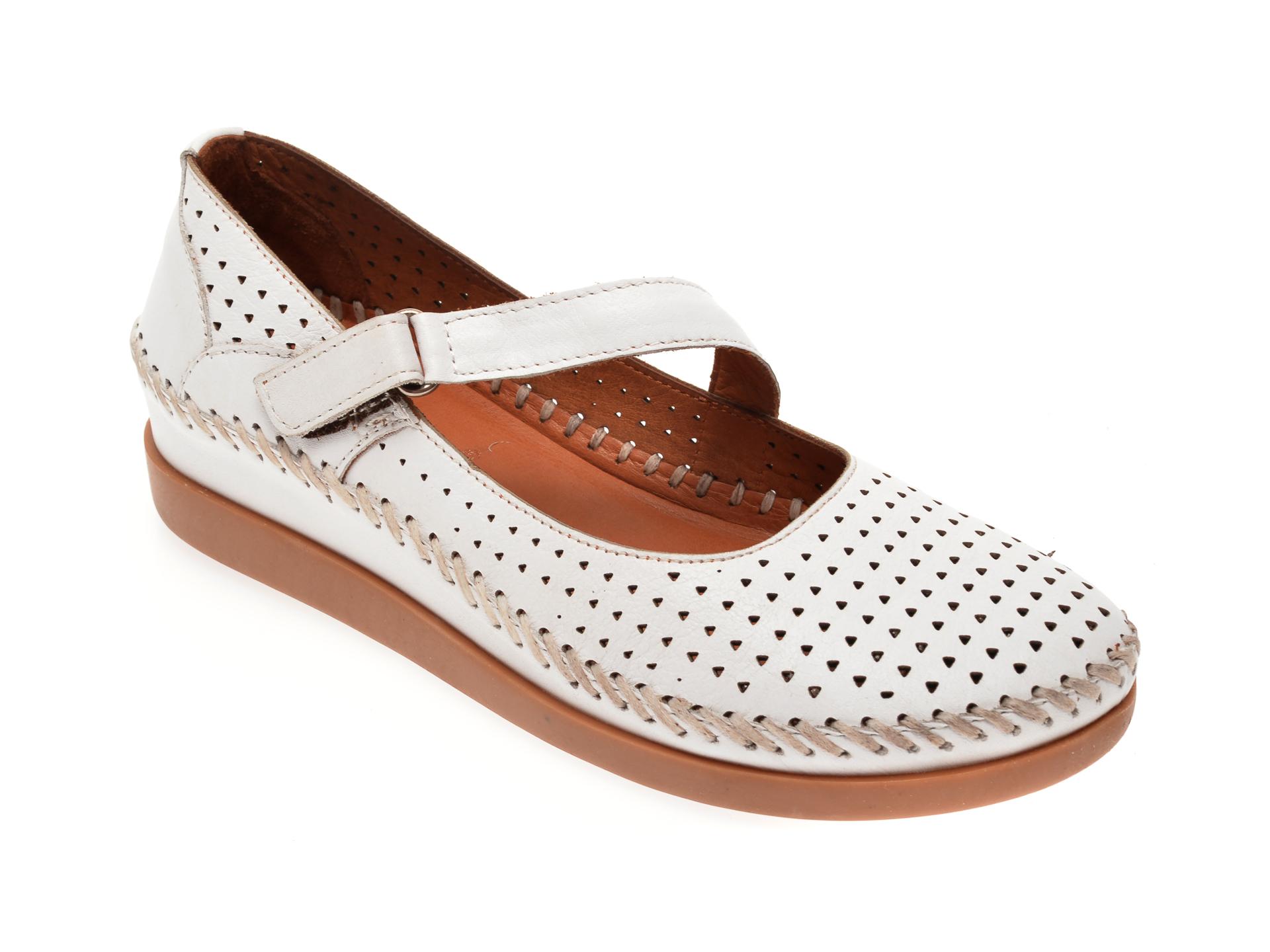 Pantofi FLAVIA PASSINI albi, 80011, din piele naturala