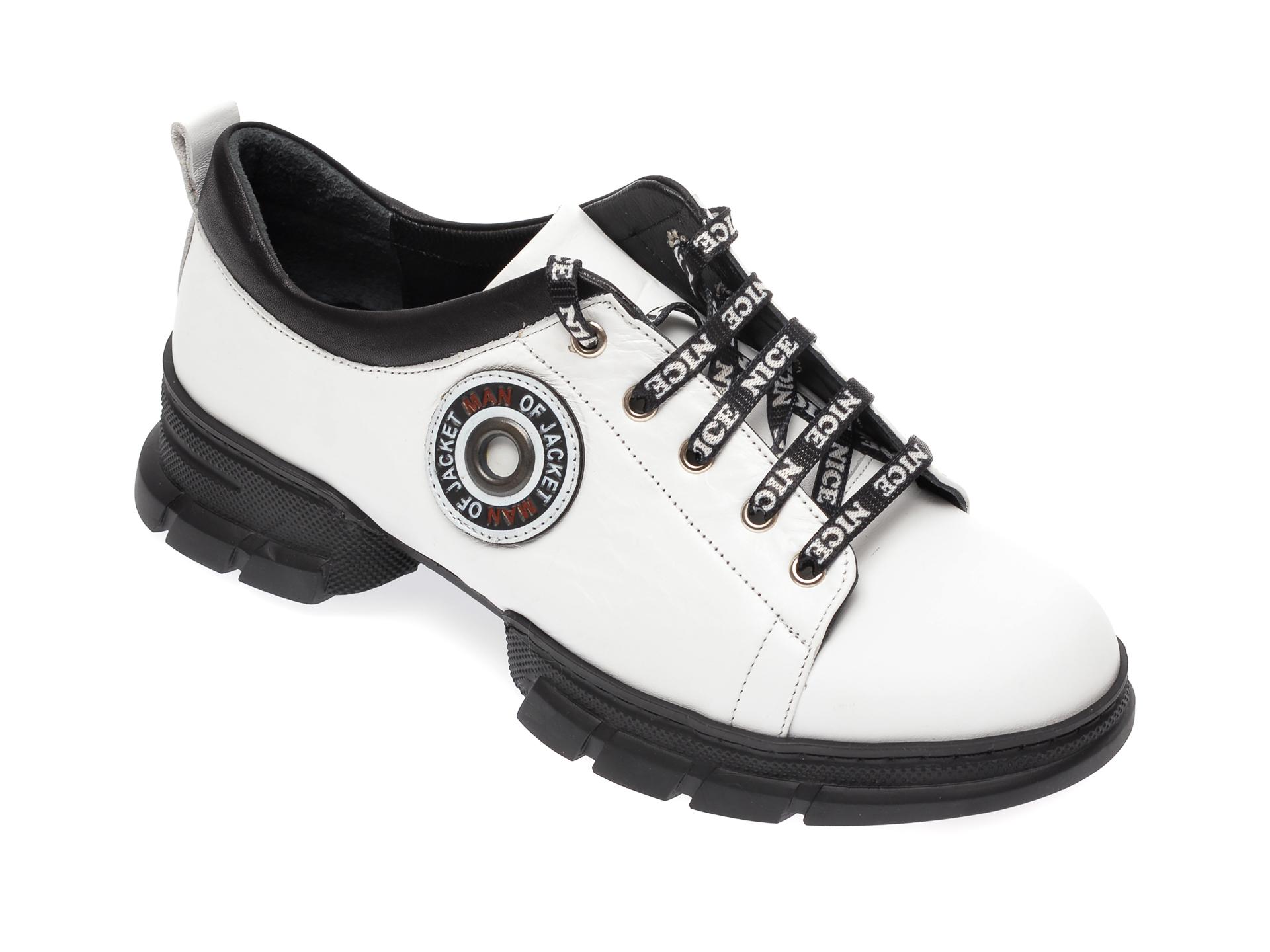 Pantofi FLAVIA PASSINI albi, 80732, din piele naturala