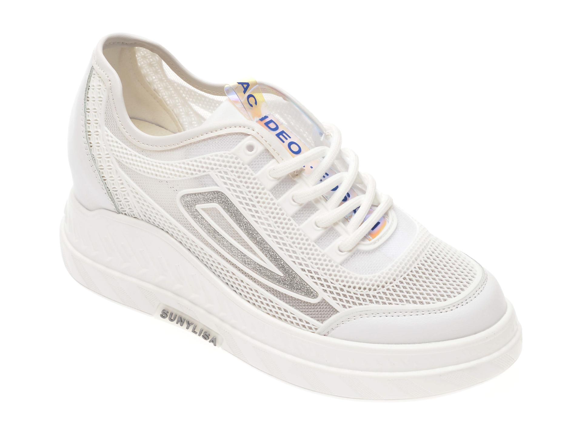 Pantofi FLAVIA PASSINI albi, 92200, din piele ecologica