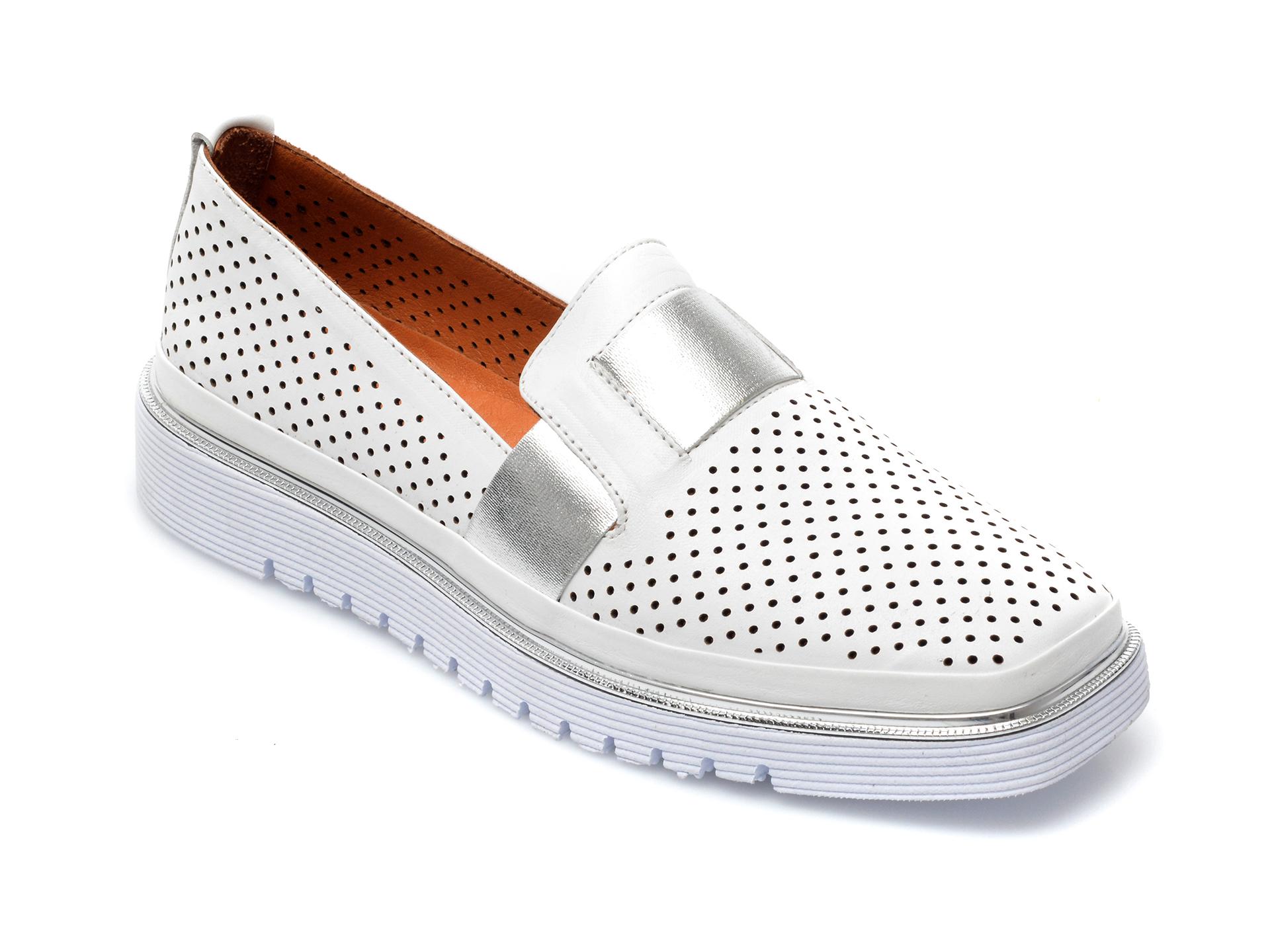 Pantofi FLAVIA PASSINI albi, 993101, din piele naturala imagine otter.ro 2021